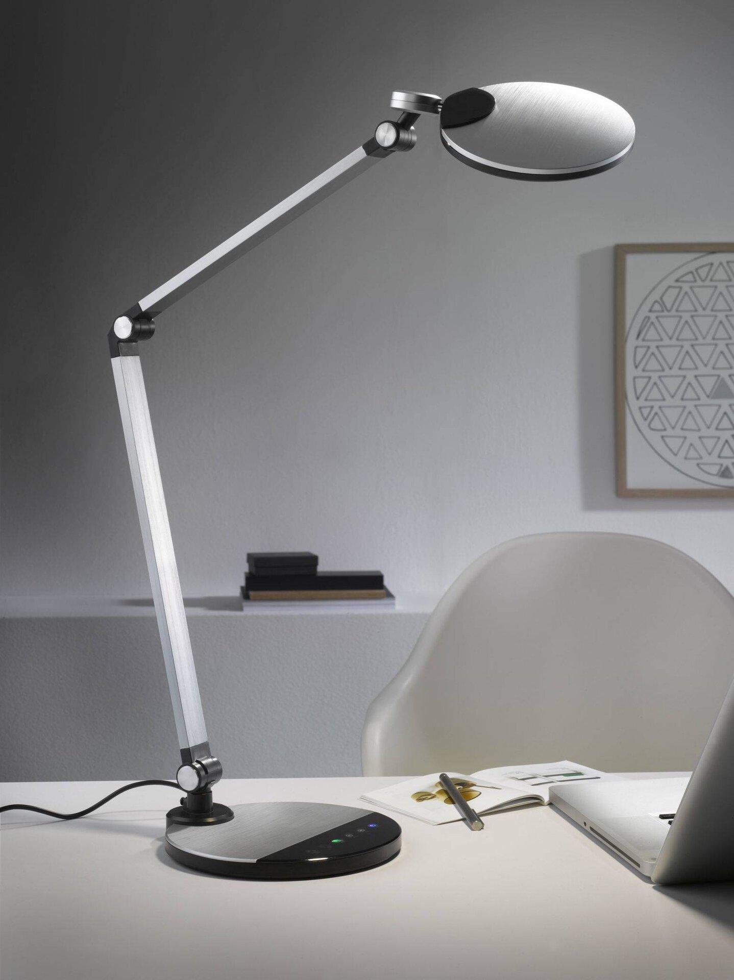 Schreibtischleuchte EXPECT  Casa Nova  Bailiwei Casa Nova Kunststoff silber 19 x 43 x 45 cm