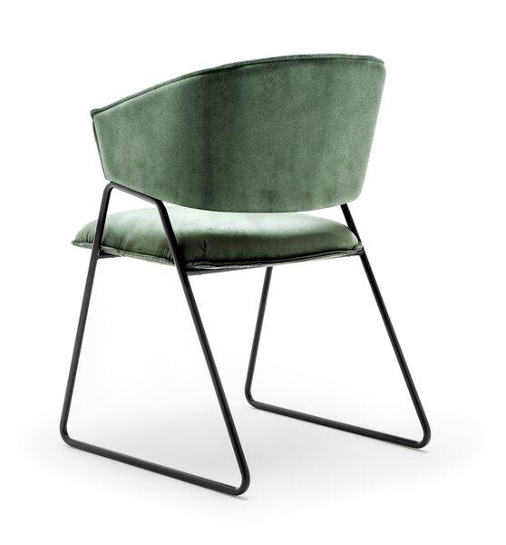 Stuhl Gwinner  Metall, Textil KANSAS 222 grün ca. 57 cm x 83 cm x 54 cm