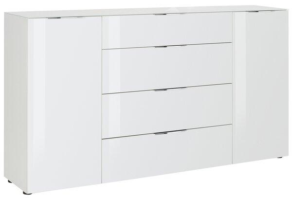 Kommode Maja Möbel Holzwerkstoff Lack weiß matt ca. 40 cm x 100 cm x 180 cm