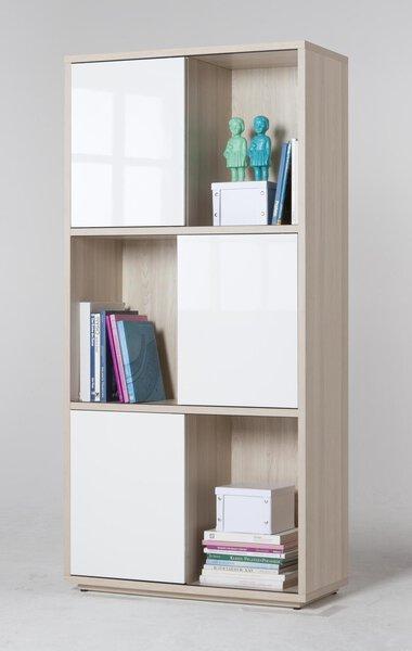 Regal inbuy Holzwerkstoff Weiß Hochglanz ca. 40 cm x 186 cm x 90 cm