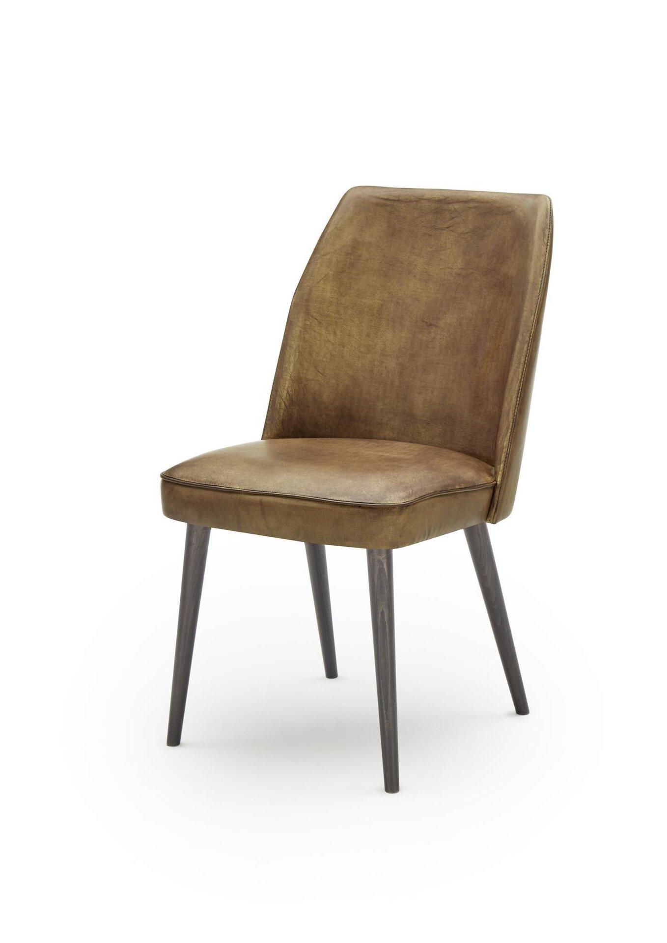 4-Fuß-Stuhl WK7006 Jacky WK Wohnen Edition Leder braun 58 x 88 x 50 cm