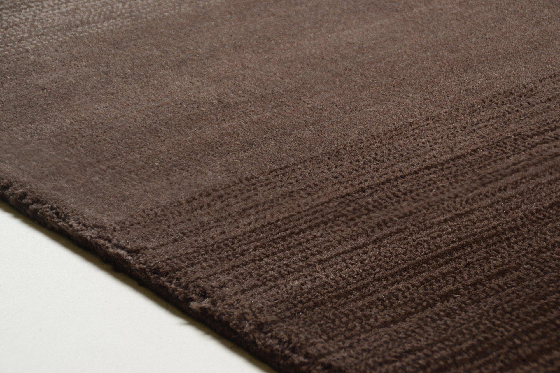 Handwebteppich Wool Star Theko Textil braun 1 x 2 cm