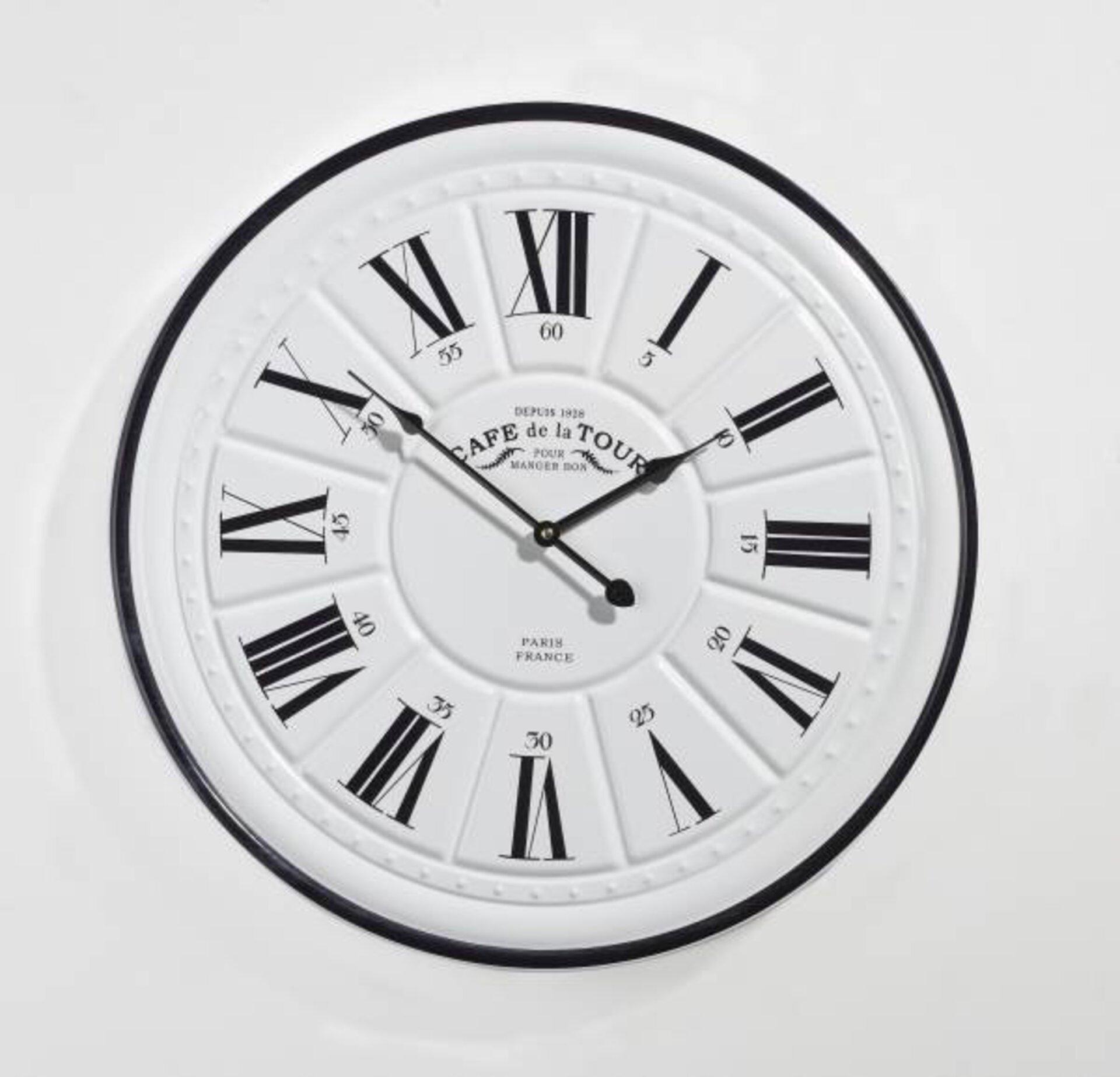 Uhr 185726 Casa Nova Metall weiß