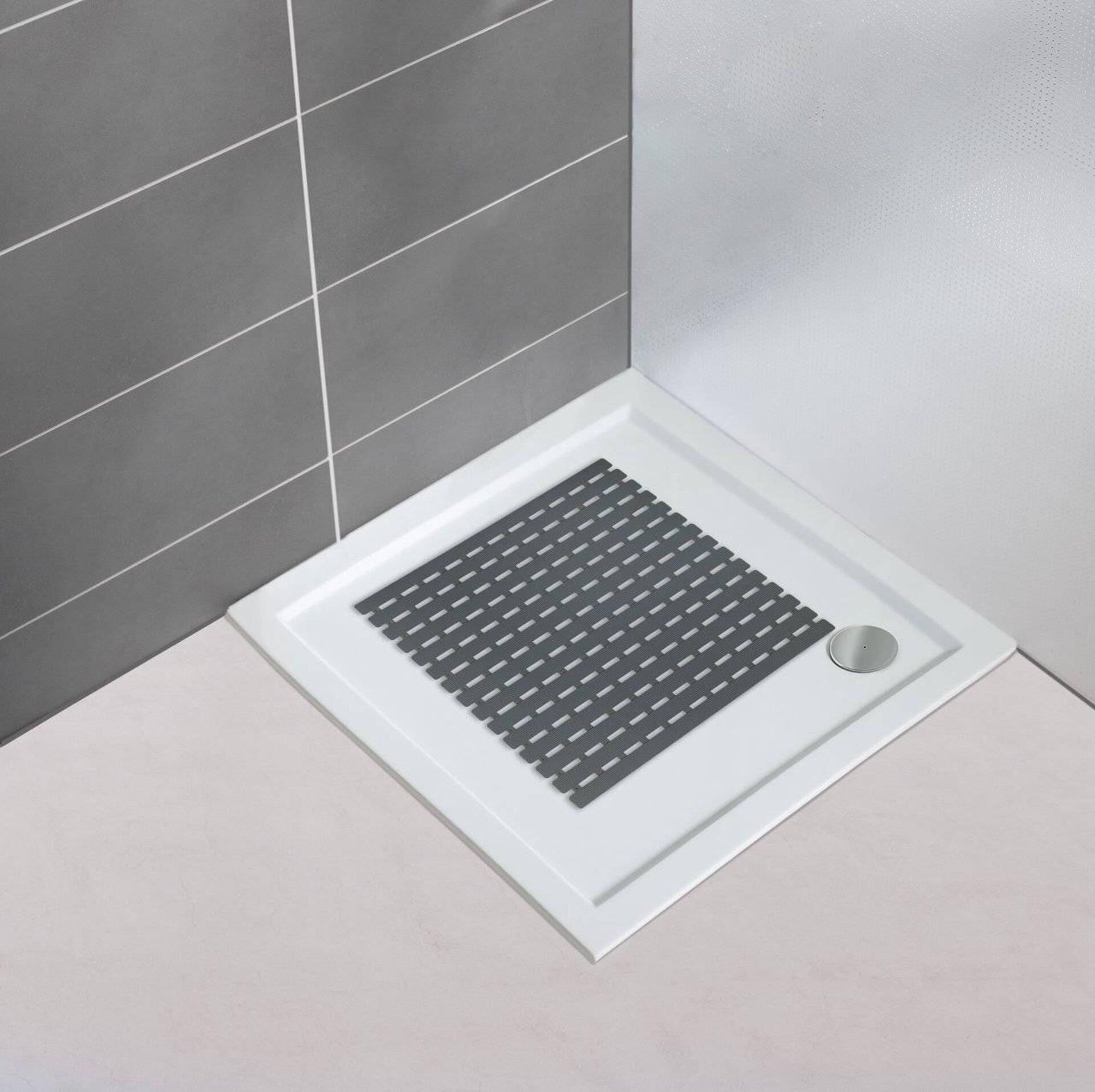 Wanneneinlage Arinos Wenko Kunststoff grau 54 x 54 cm
