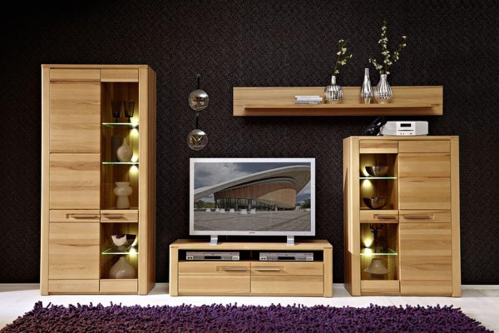 Wohnwand NATURE CELECT Holzwerkstoff braun 45 x 185 x 320 cm