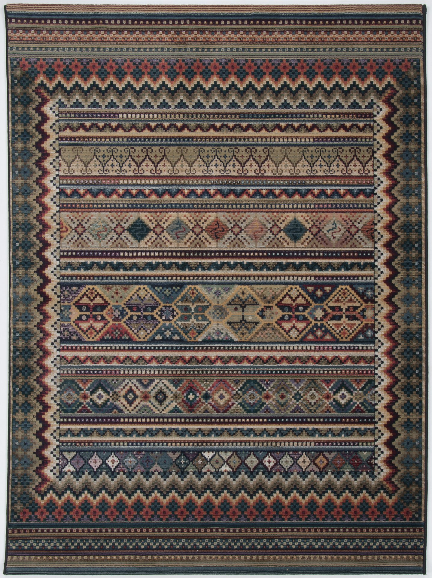 Maschinenwebteppich Gabiro Theko Textil mehrfarbig 60 x 90 cm