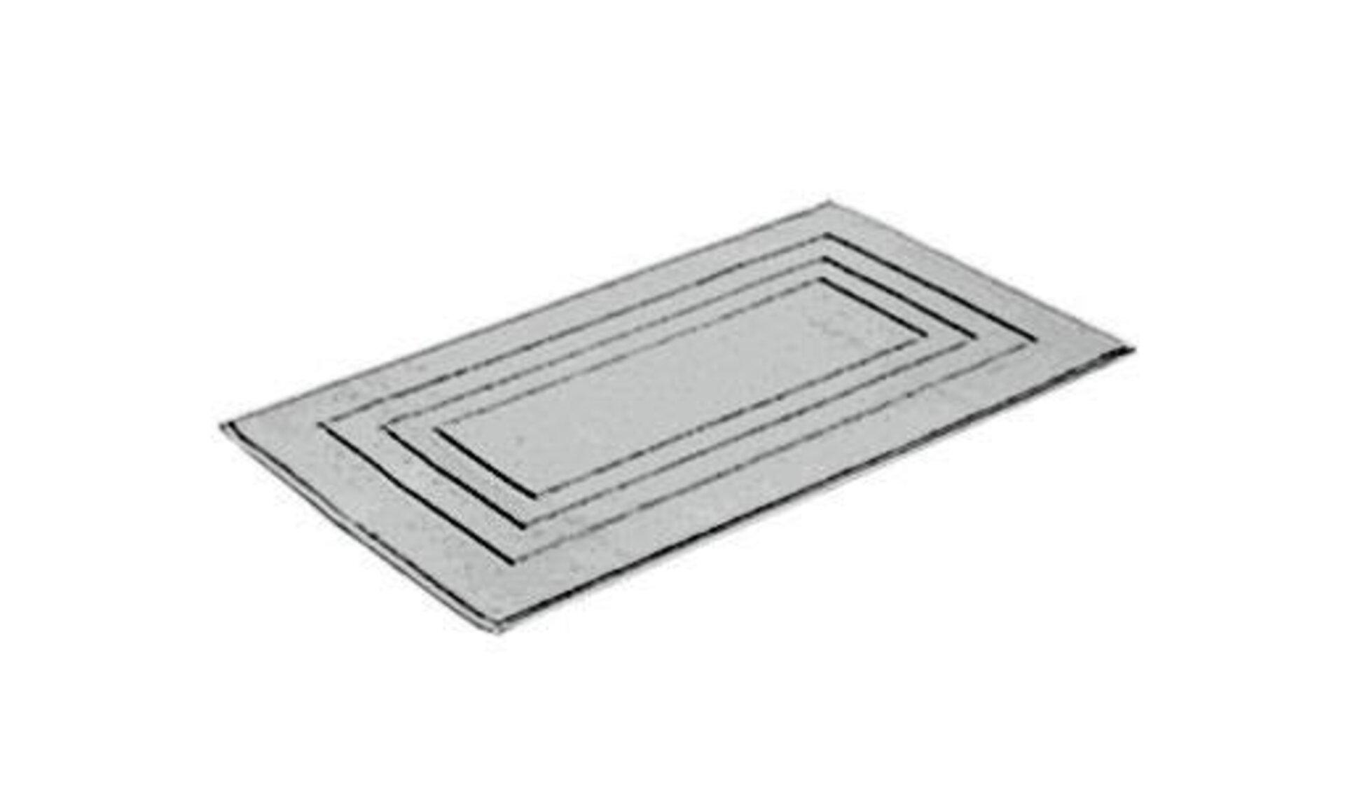 Badteppich aus saugfähigem Material, speziell für Feuchträume