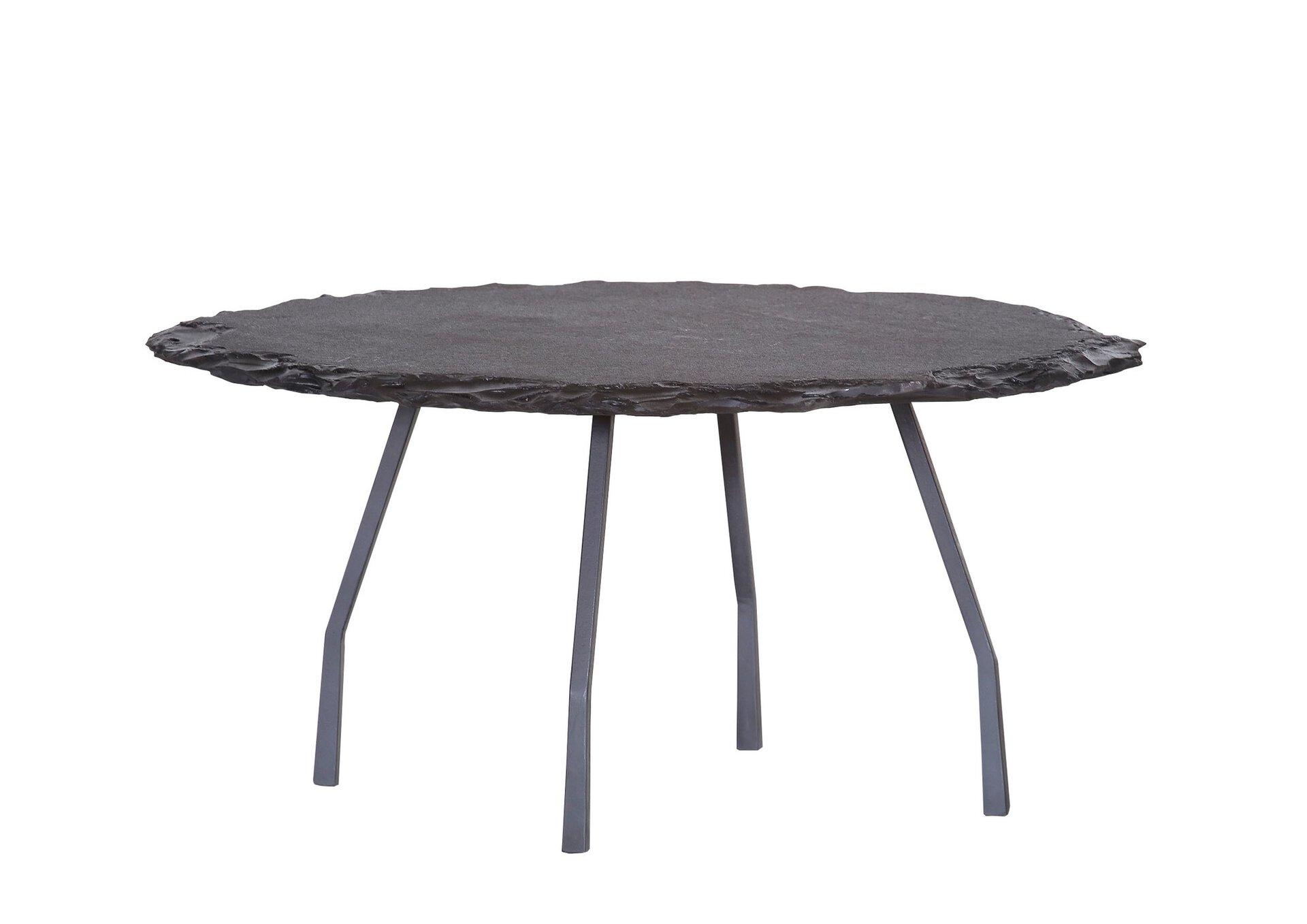 Couchtisch BLACK BETTY Gutmann Factory Stein schwarz 37 x 80 cm