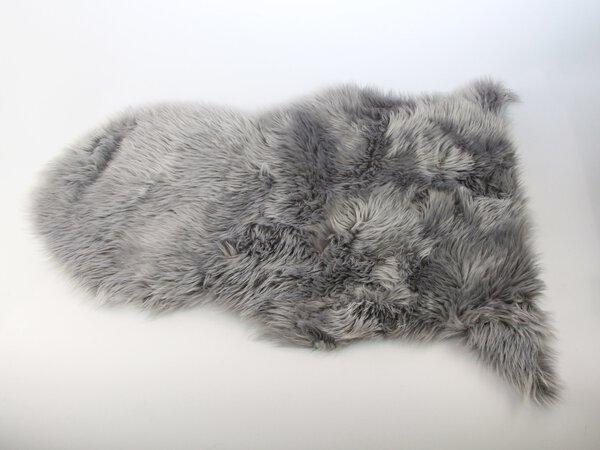 Fellteppich Trendline Textil grau ca. 60 cm x 4 cm x 90 cm
