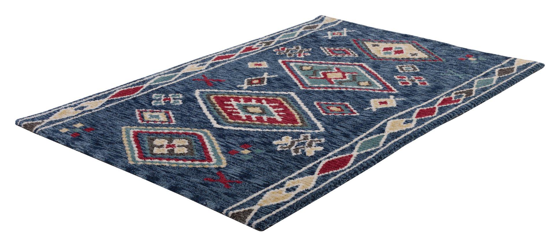 Handtuftteppich Vittoria Gino Falcone Textil Blau 1 cm