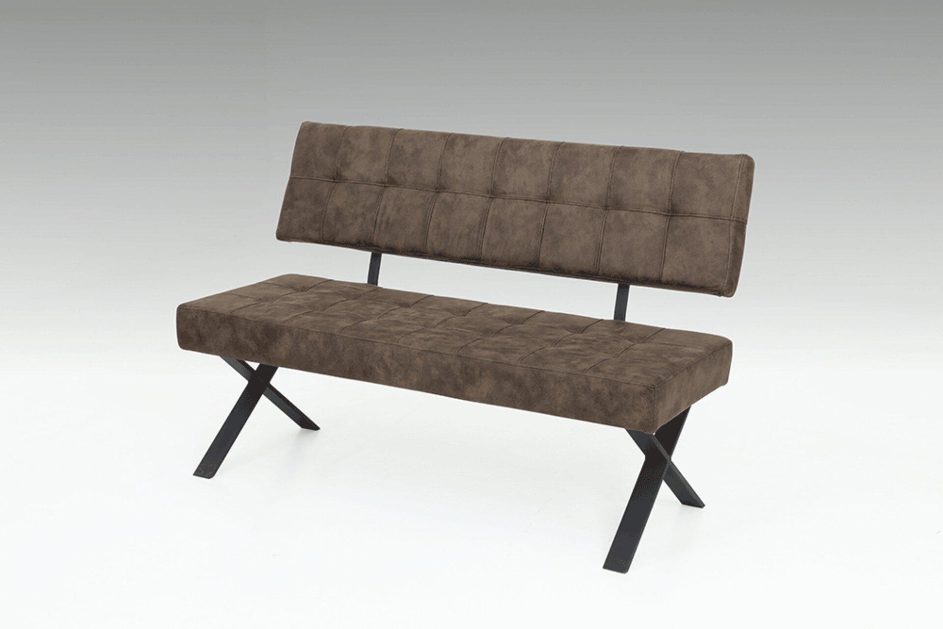 Sitzbank DONNA Dinett Textil mehrfarbig 61 x 93 x 140 cm