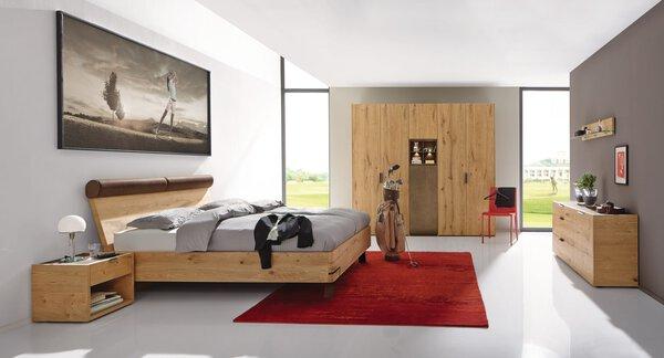 Schlafzimmer Hülsta  Holzwerkstoff, Metall Balkeneiche furniert ca. 61 cm x 230 cm x 252 cm