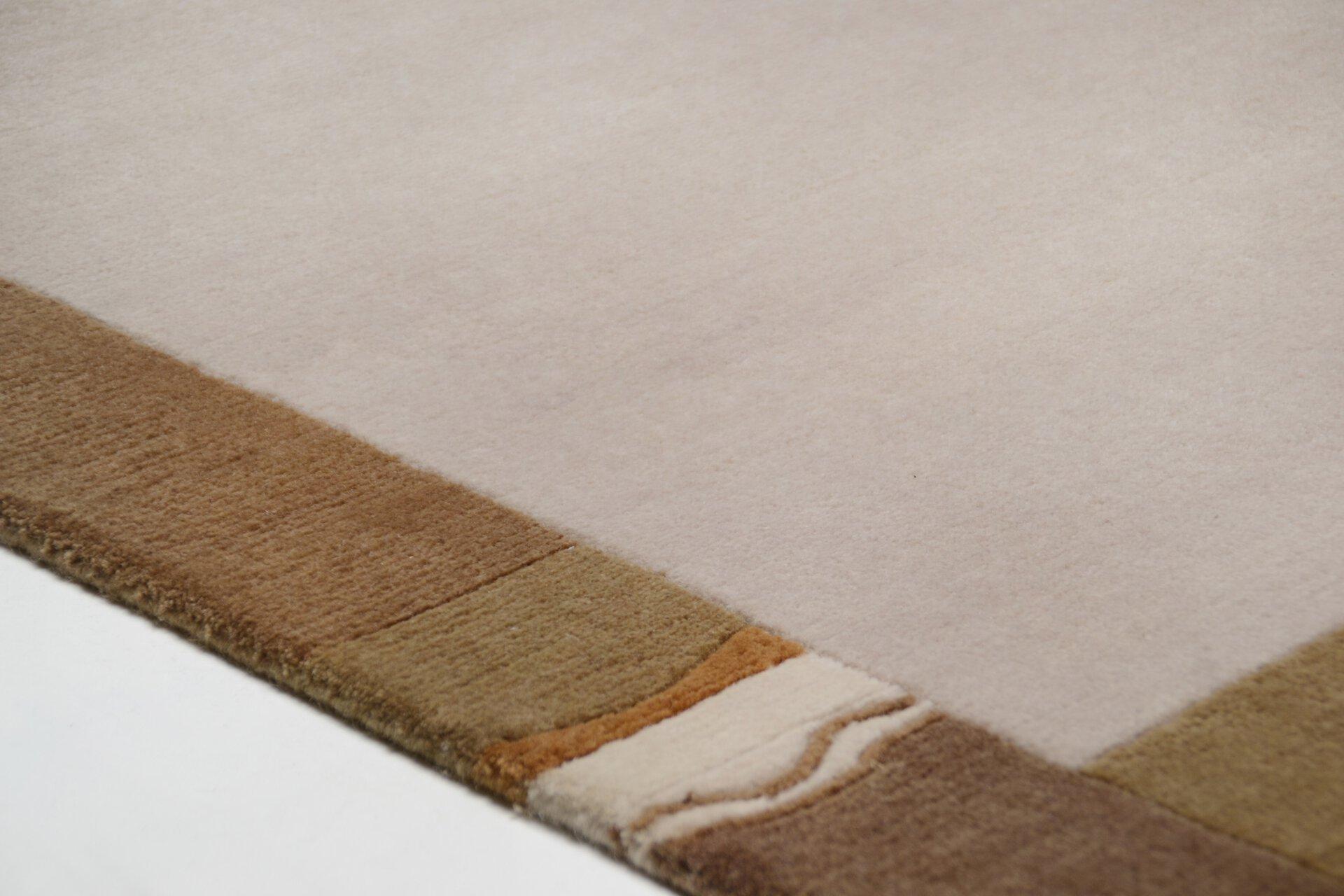 Handknüpfteppich Nepalus Theko Textil braun 3 cm