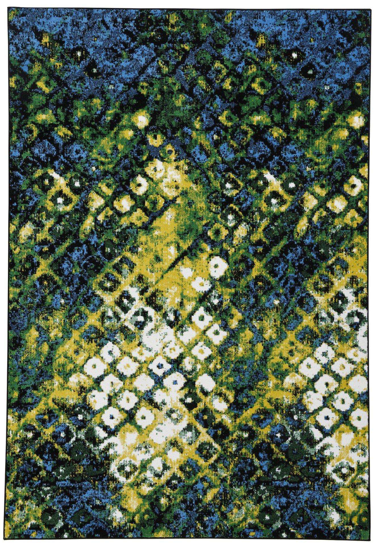Maschinenwebteppich Monia Gino Falcone Textil Blau 1 x 2 cm