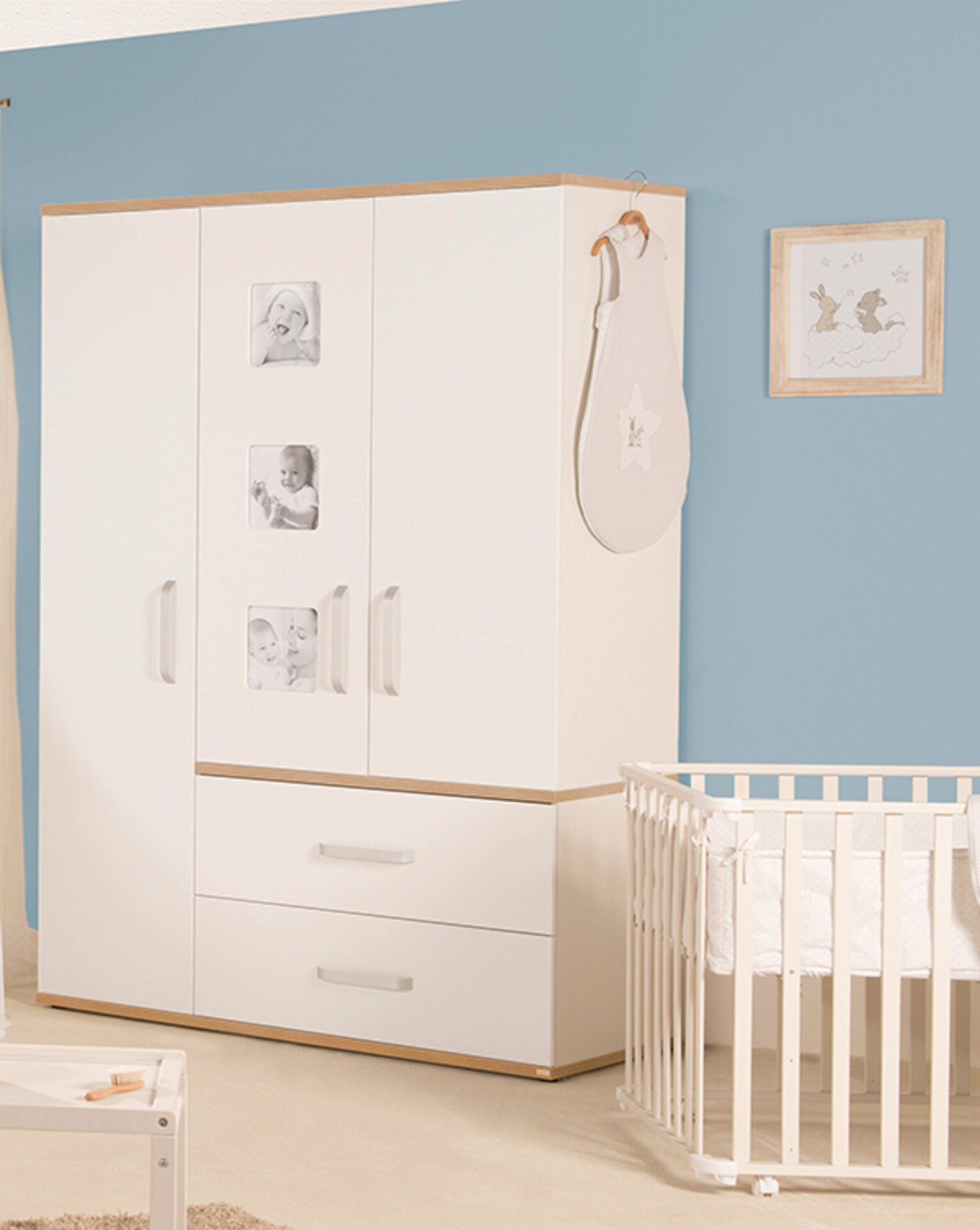 Kleiderschrank Pia Roba Baumann Holzwerkstoff weiß 55 x 193 x 135 cm