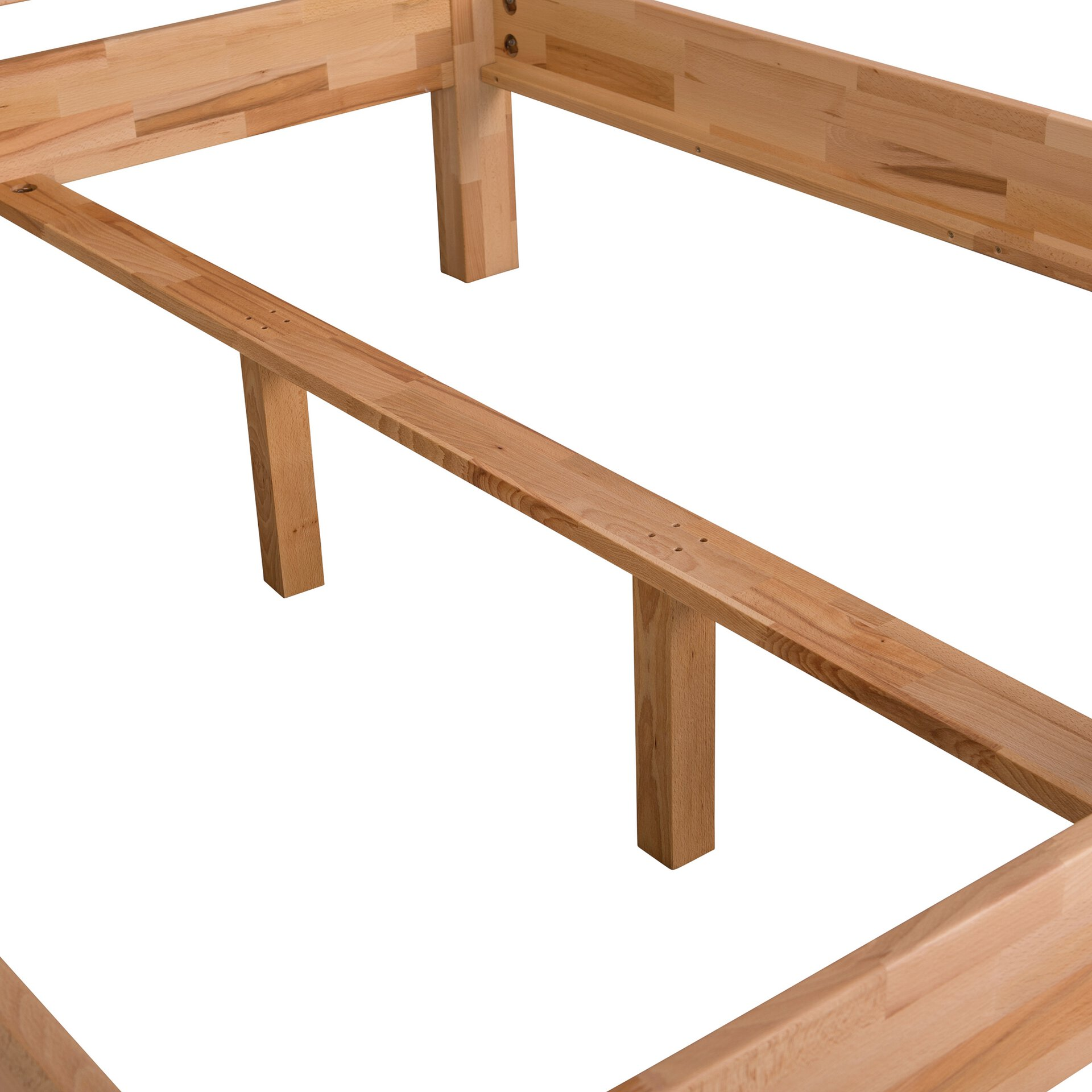 Bett BEETHOVEN Dreamoro Holz braun 180 x 99 x 200 cm