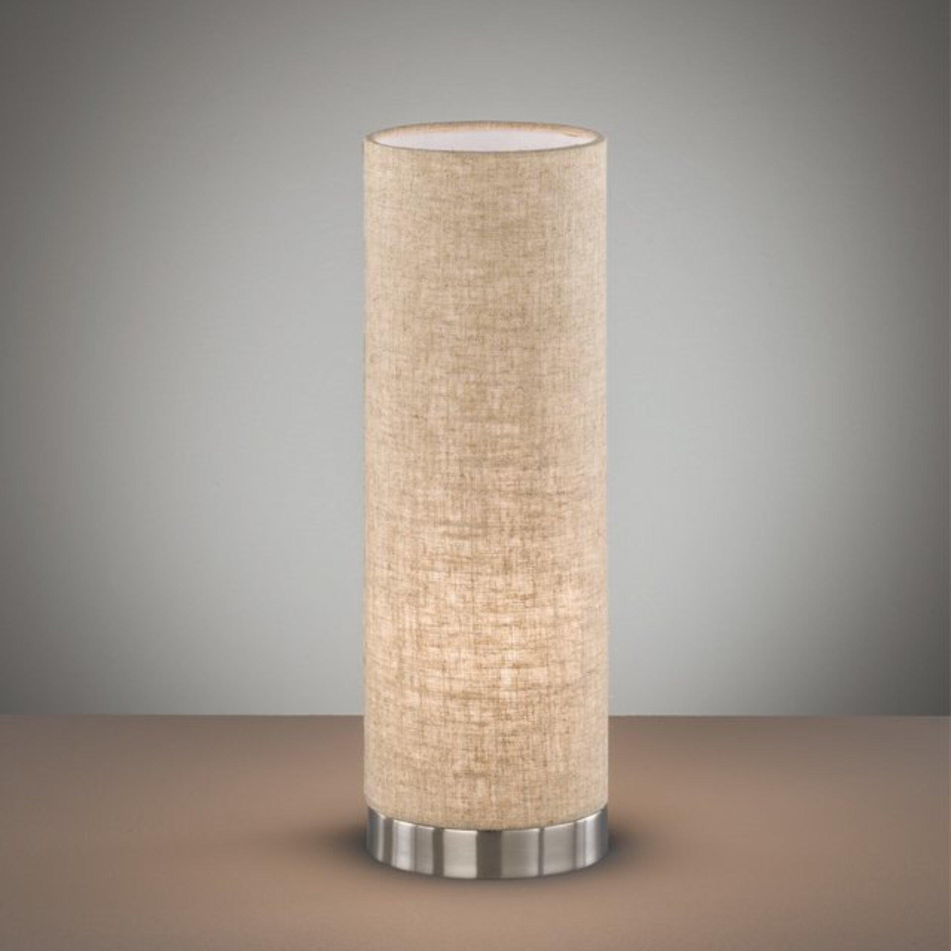 Tischleuchte Thor Fischer-Honsel Textil beige 12 x 36 x 12 cm