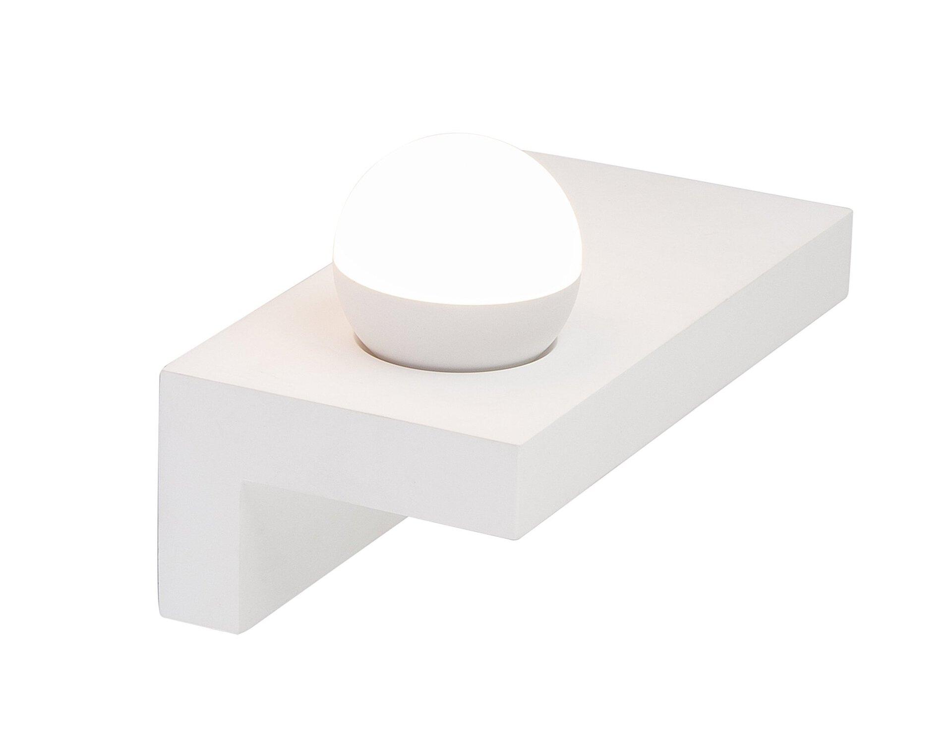 Wandleuchte CHRISTINE Globo Metall weiß 18 x 15 x 30 cm