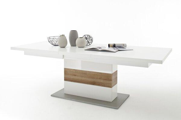 Esstisch Vito Holzwerkstoff Weiß hochglanz tiefgezogen ca. 100 cm x 77 cm x 180 cm