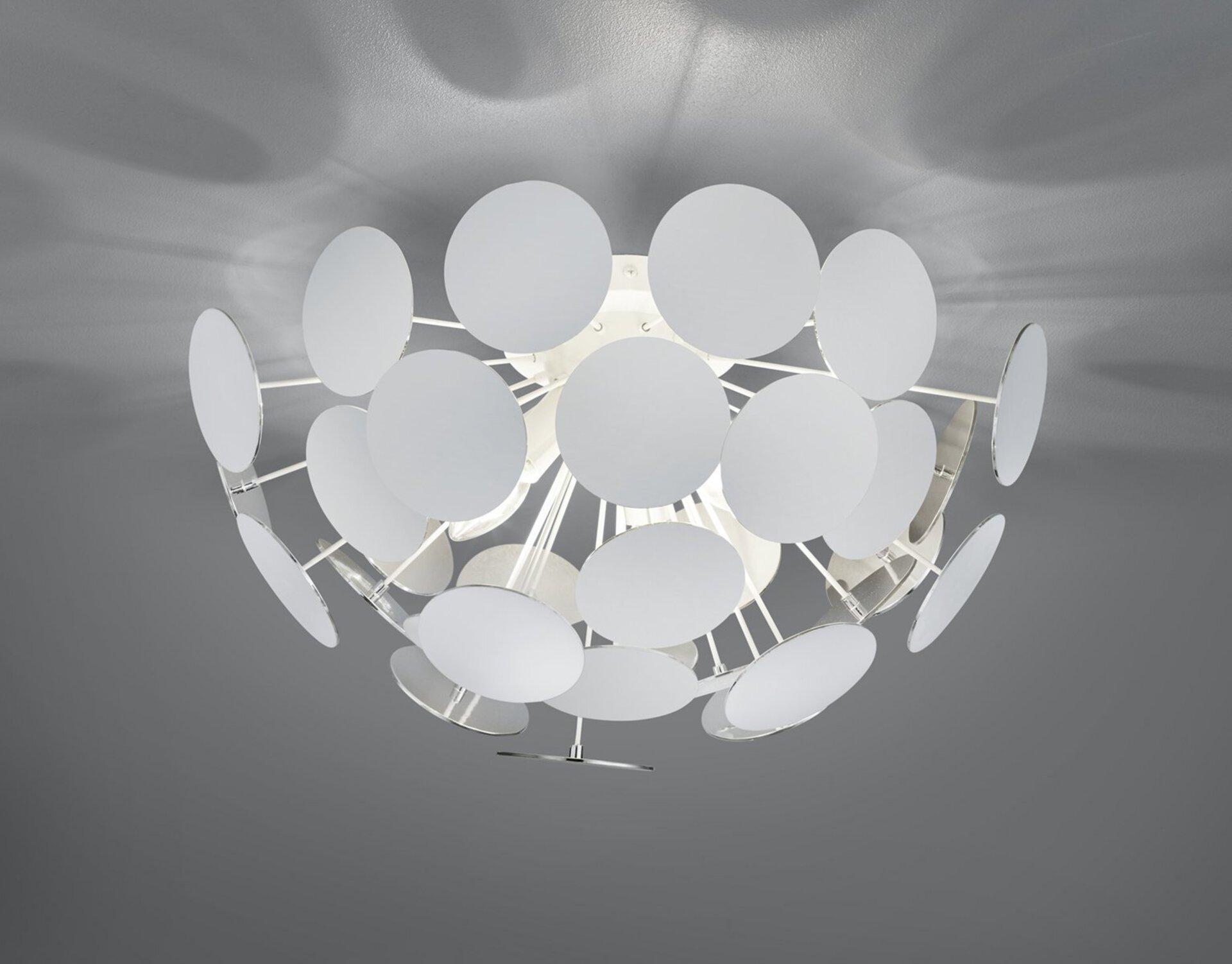 Deckenleuchte Discalgo Trio Leuchten Metall silber 54 x 30 x 54 cm