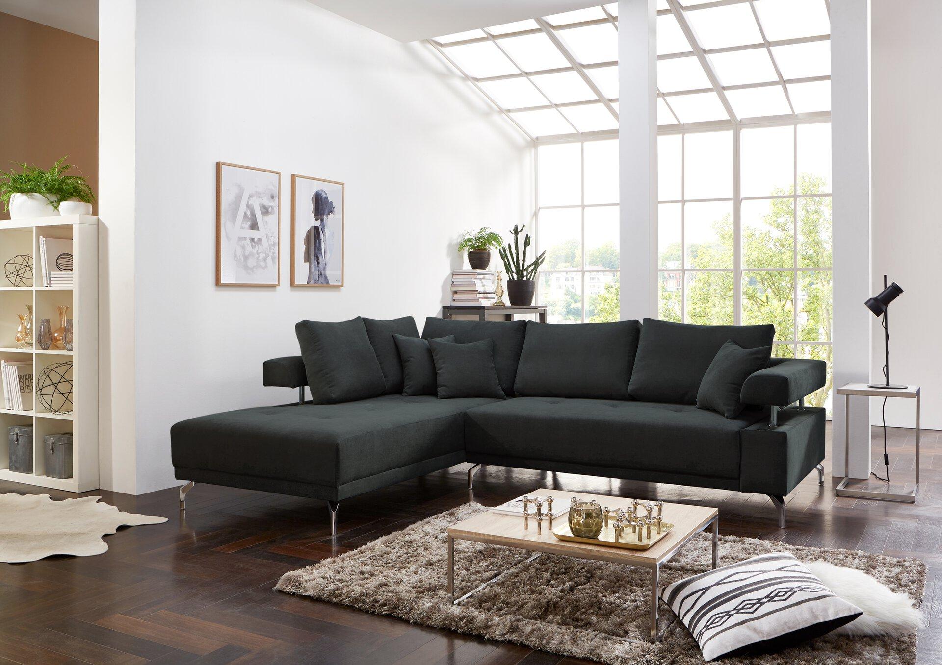 Ecksofa DREAM CELECT Textil grau 270 x 79 x 224 cm