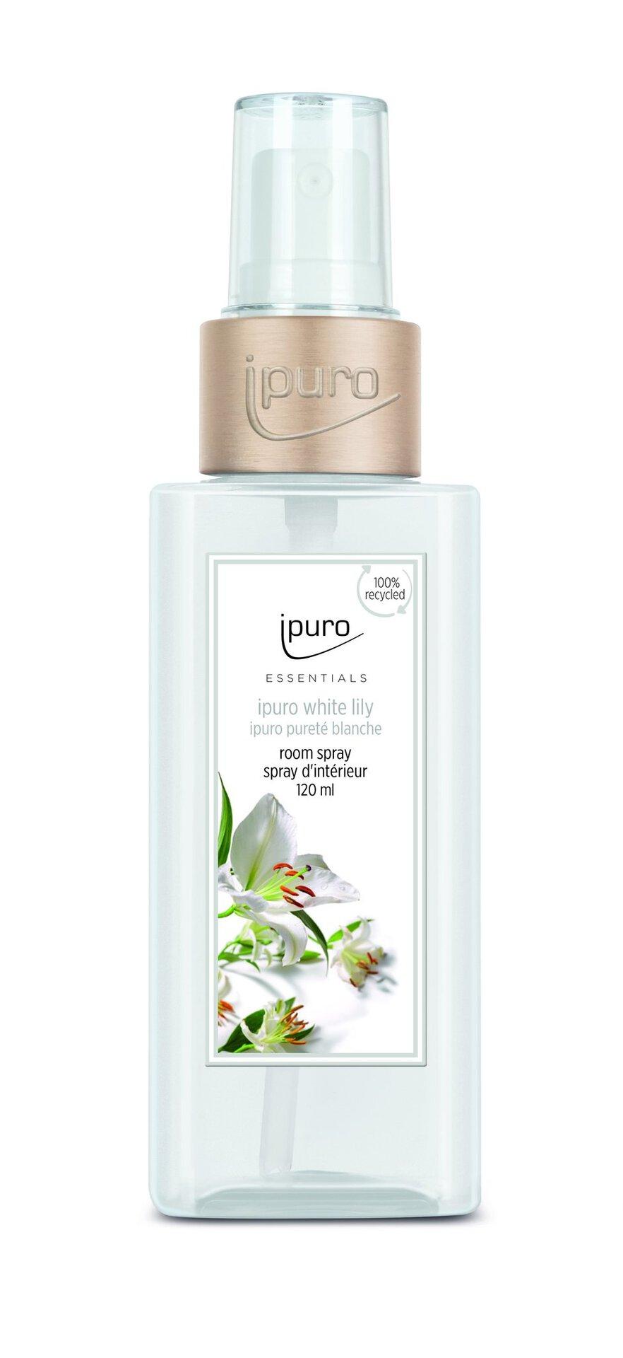 Raumduft white lily ipuro Kunststoff transparent