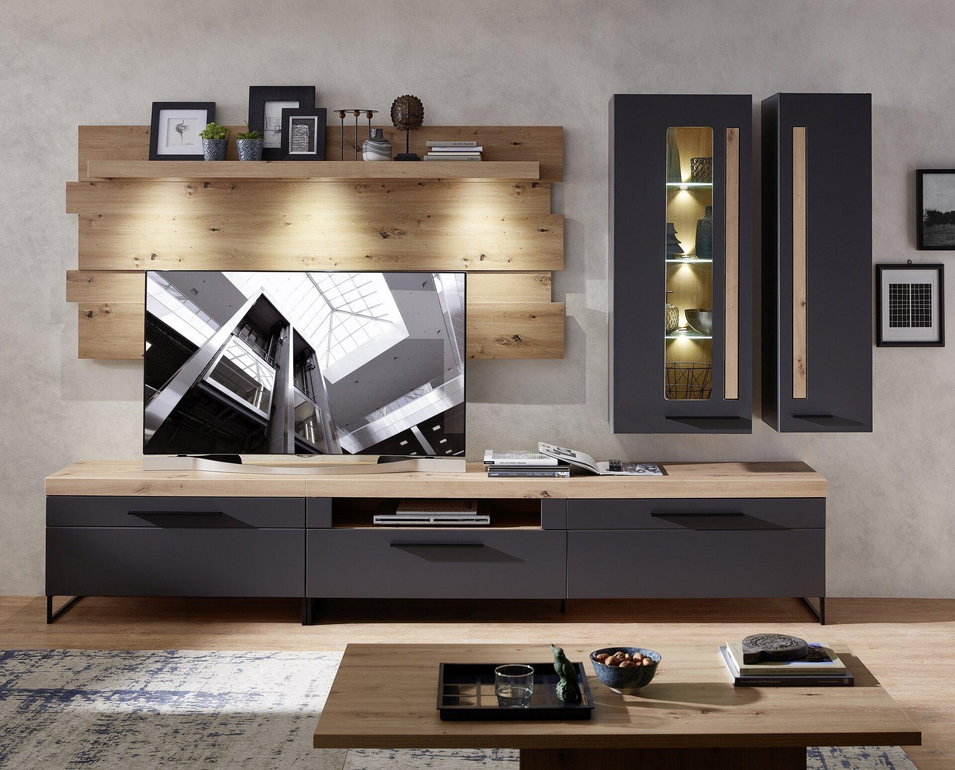 Wohnwand LOFT-TWO CELECT Holzwerkstoff mehrfarbig 44 x 201 x 314 cm