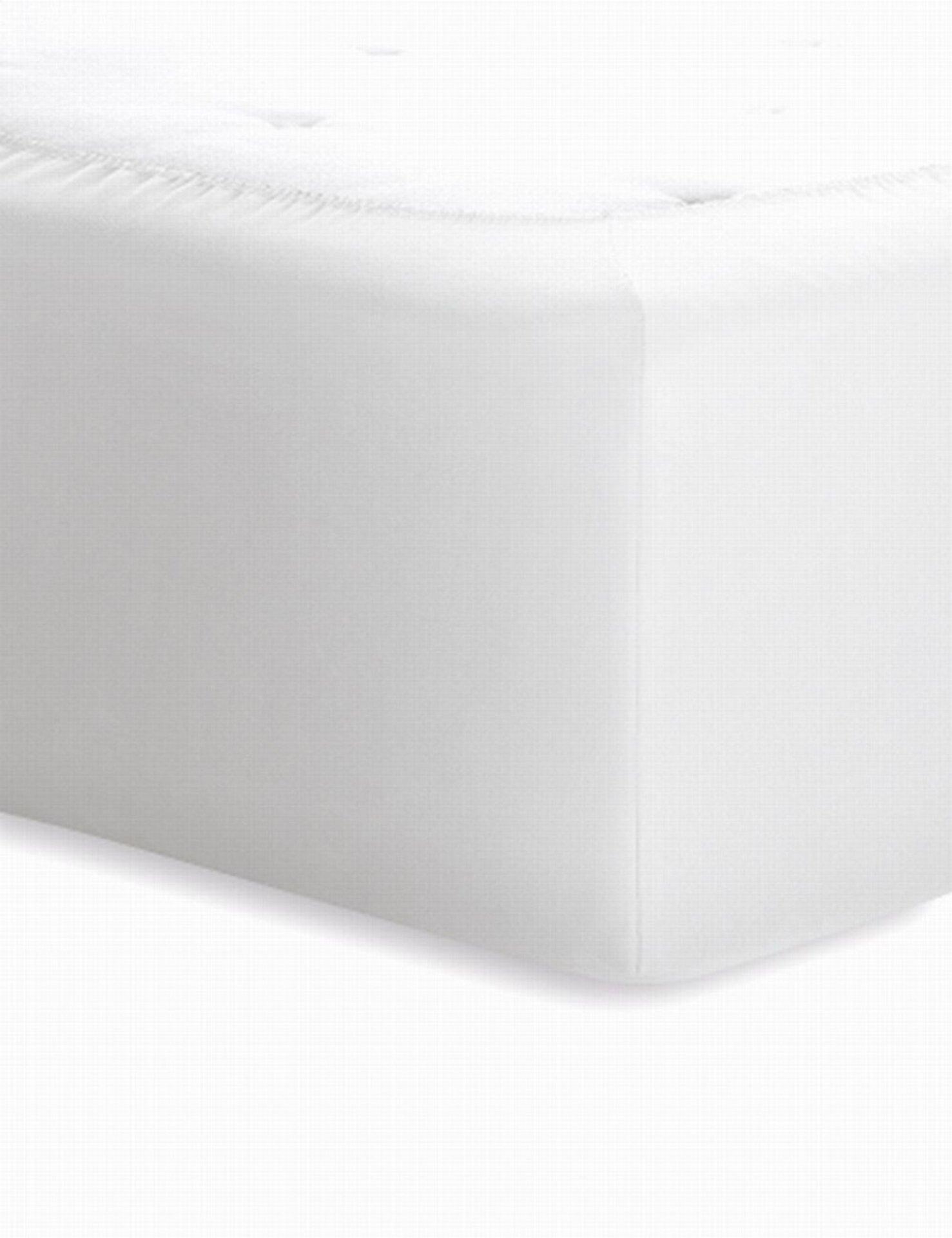 Spannbetttuch Schlafgut Textil weiß 180 x 200 cm