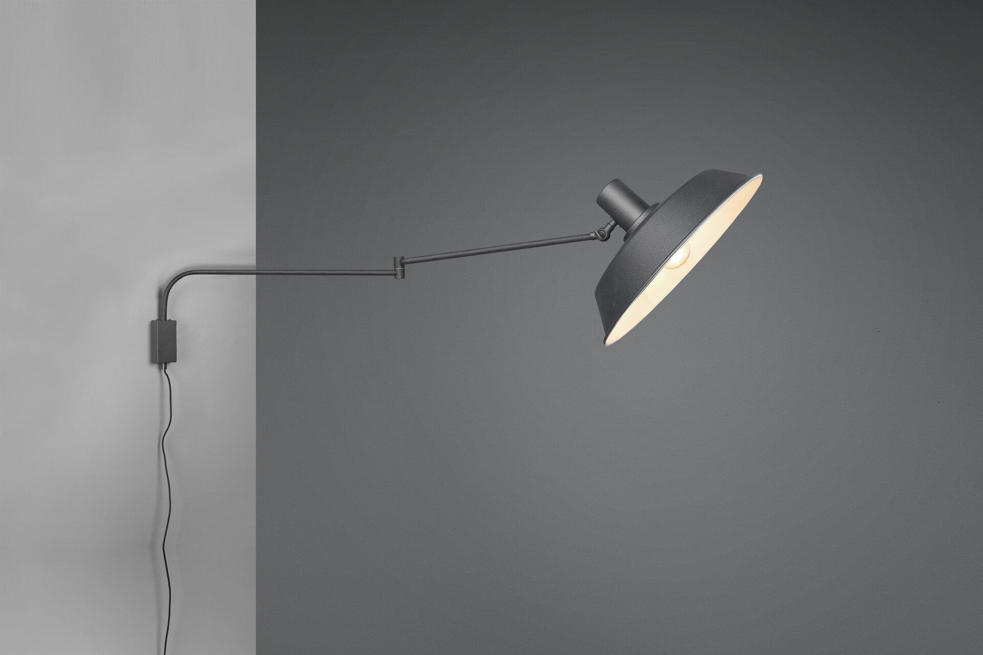 Wandleuchte Bolder Trio Leuchten Metall schwarz 36 x 29 x 150 cm