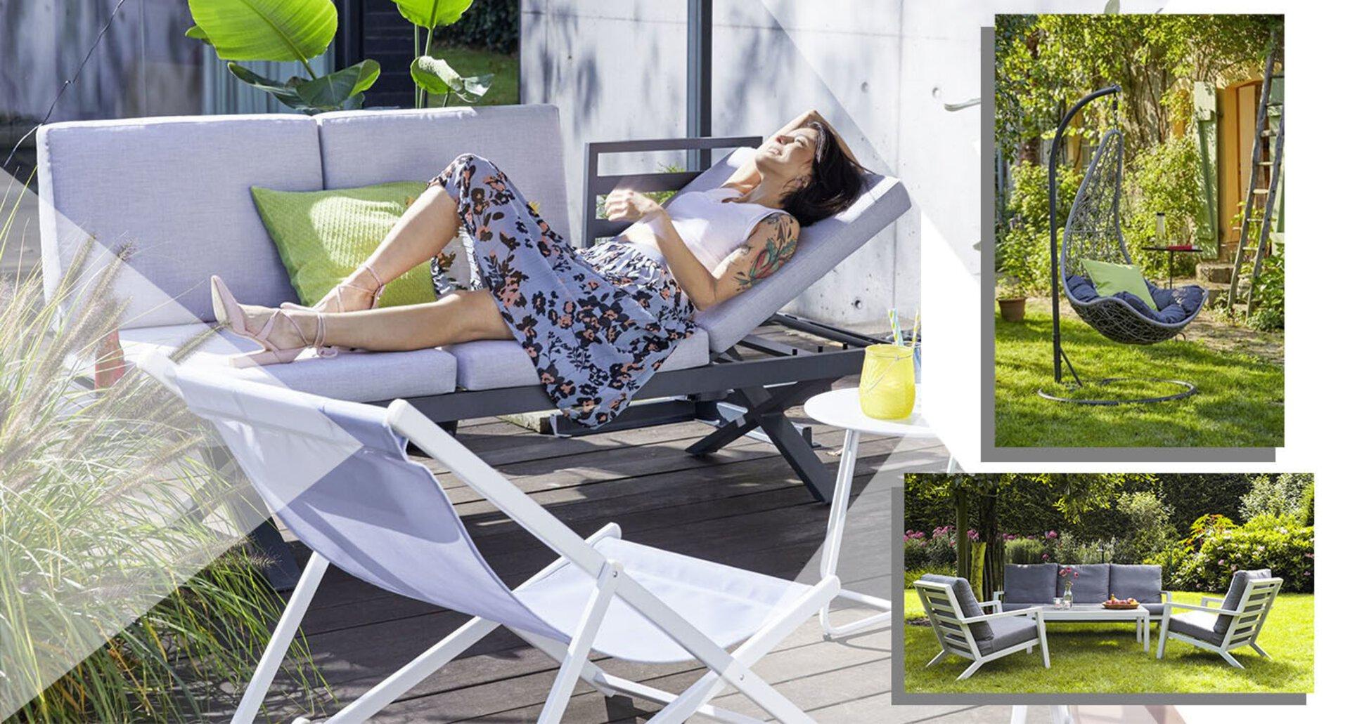 Traumhafte Gartenmöbel bei Möbel Inhofer. Themenbild auf der Startseite.