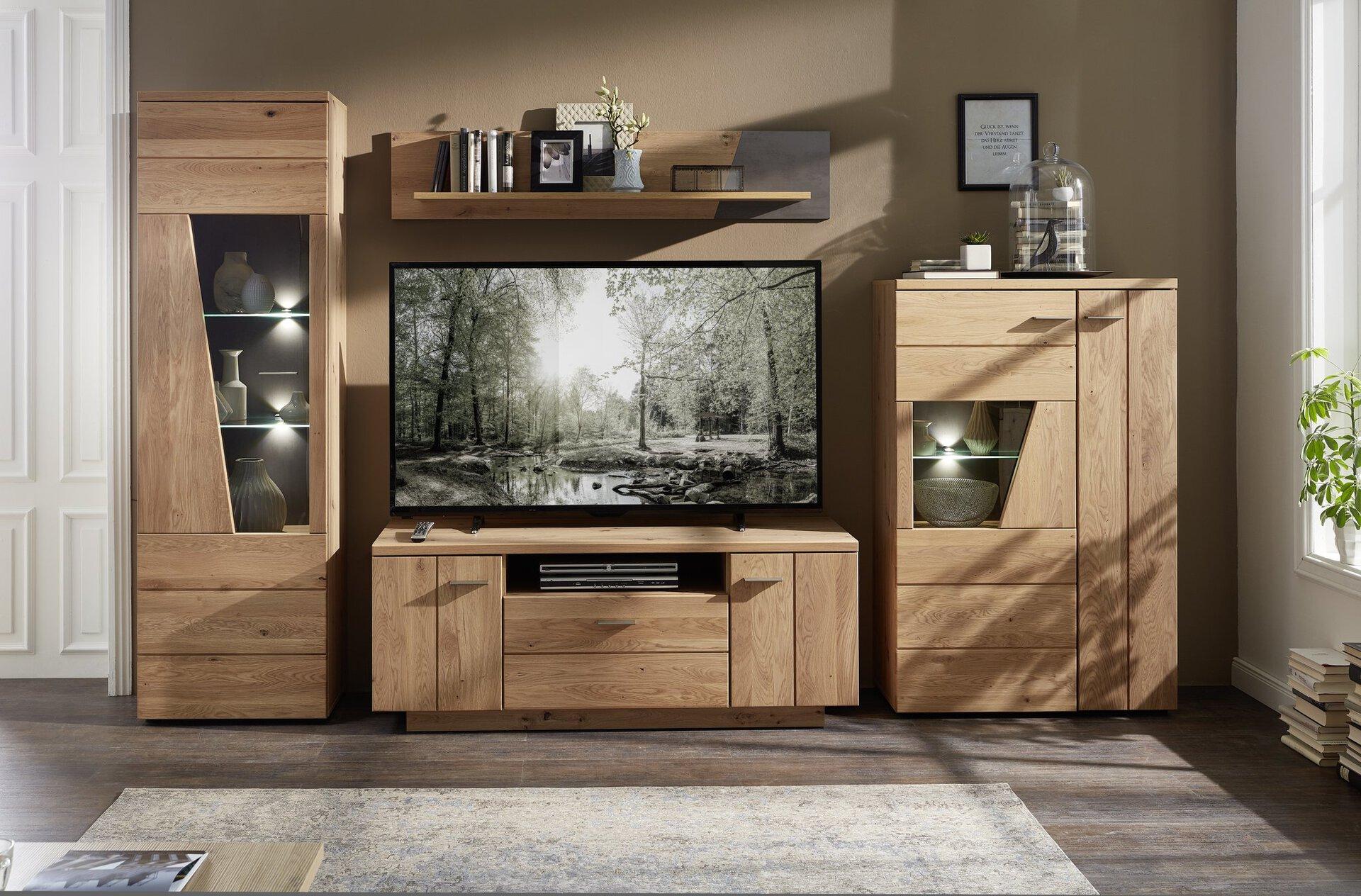 Wohnwand RUBINO CELECT Holzwerkstoff braun 50 x 200 x 330 cm