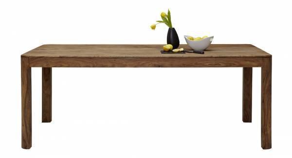 Tisch mit fester Platte Dinett Holz Sheesham gebeizt ca. 1 cm x 1 cm x 2 cm