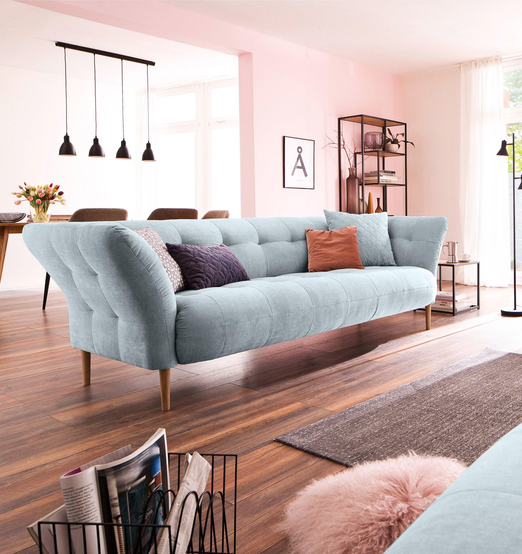 Sofa 3-Sitzer BIG APPLE Couch Lifestyle Textil Blau