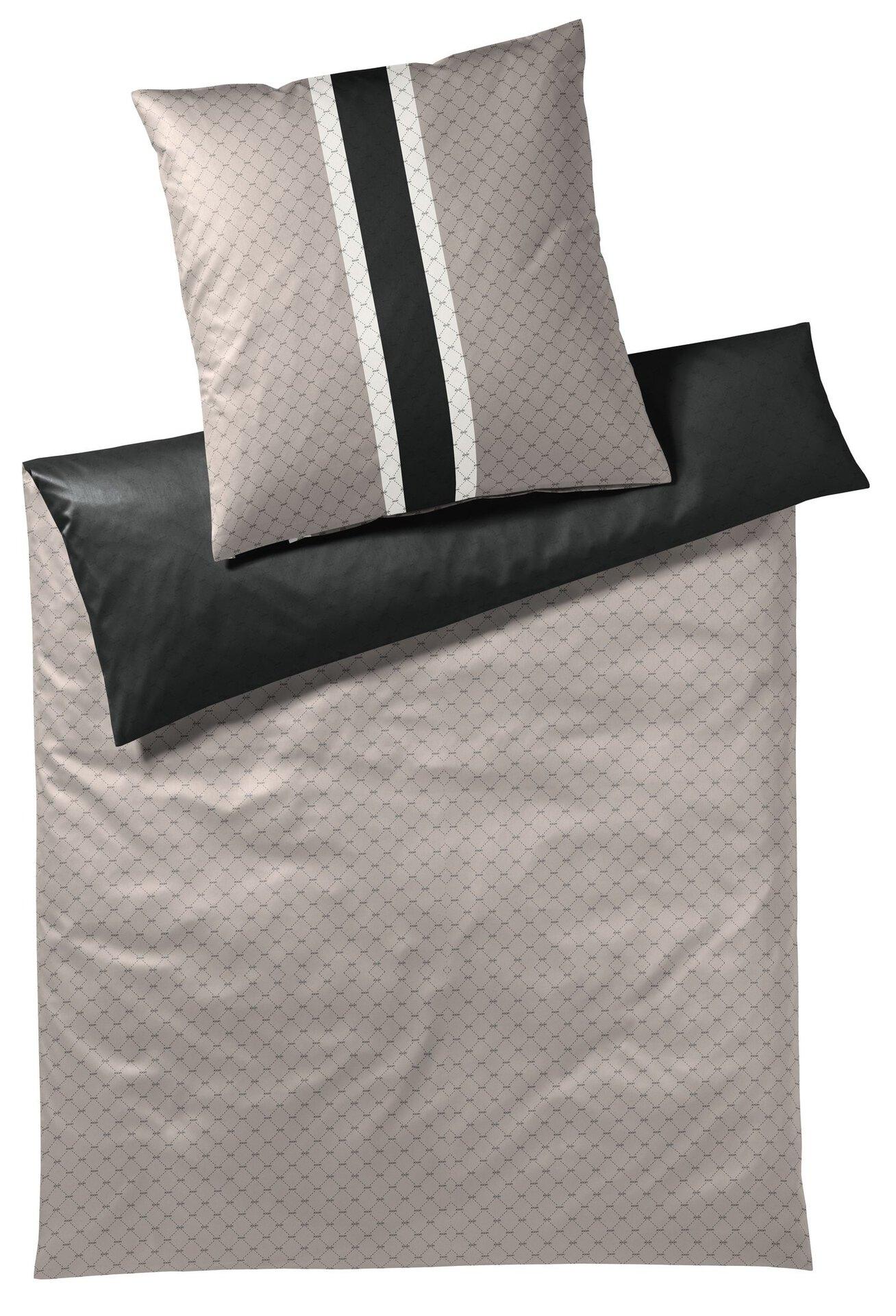 Satin-Bettwäsche Signature Joop! Textil schwarz 155 x 220 cm