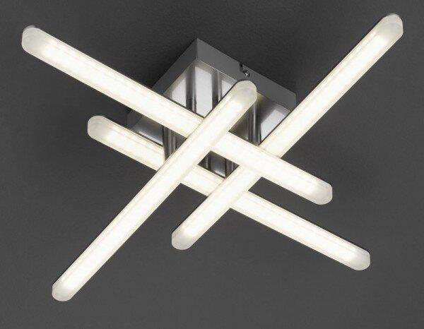 Deckenleuchte Casa Nova Metall silber ca. 53 cm x 10 cm x 53 cm