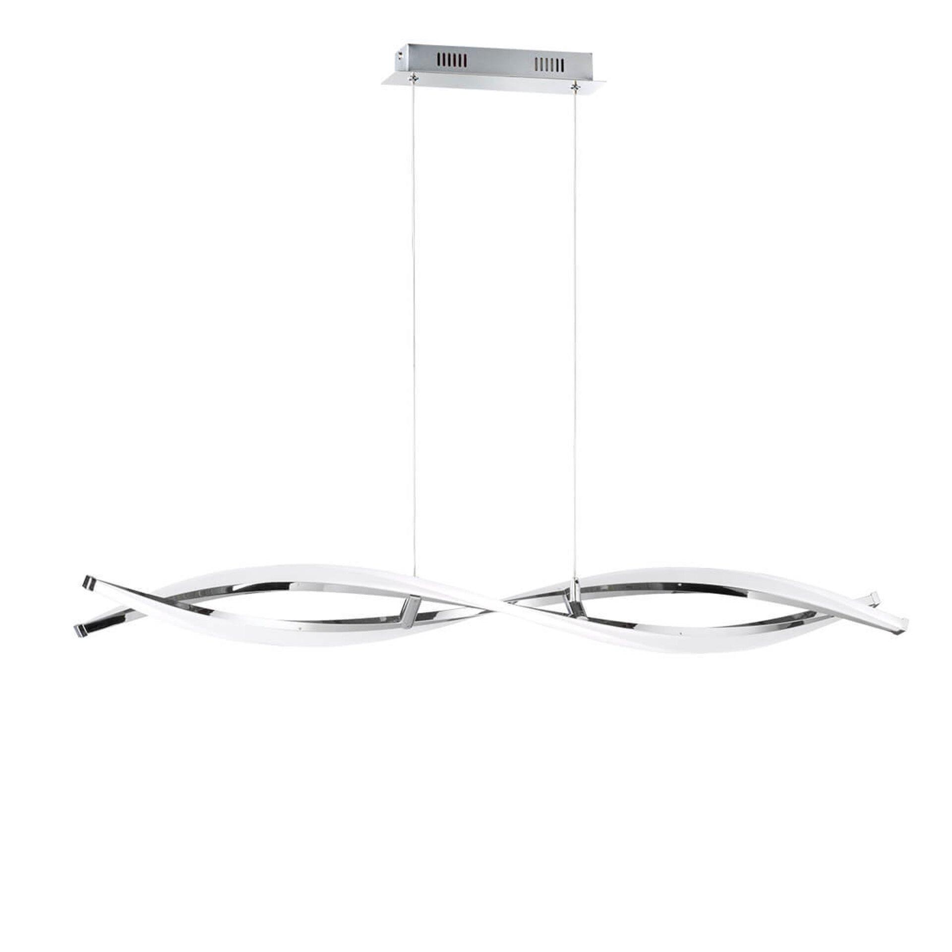 Hängeleuchte Idana Wofi Leuchten Metall silber 15 x 150 x 100 cm