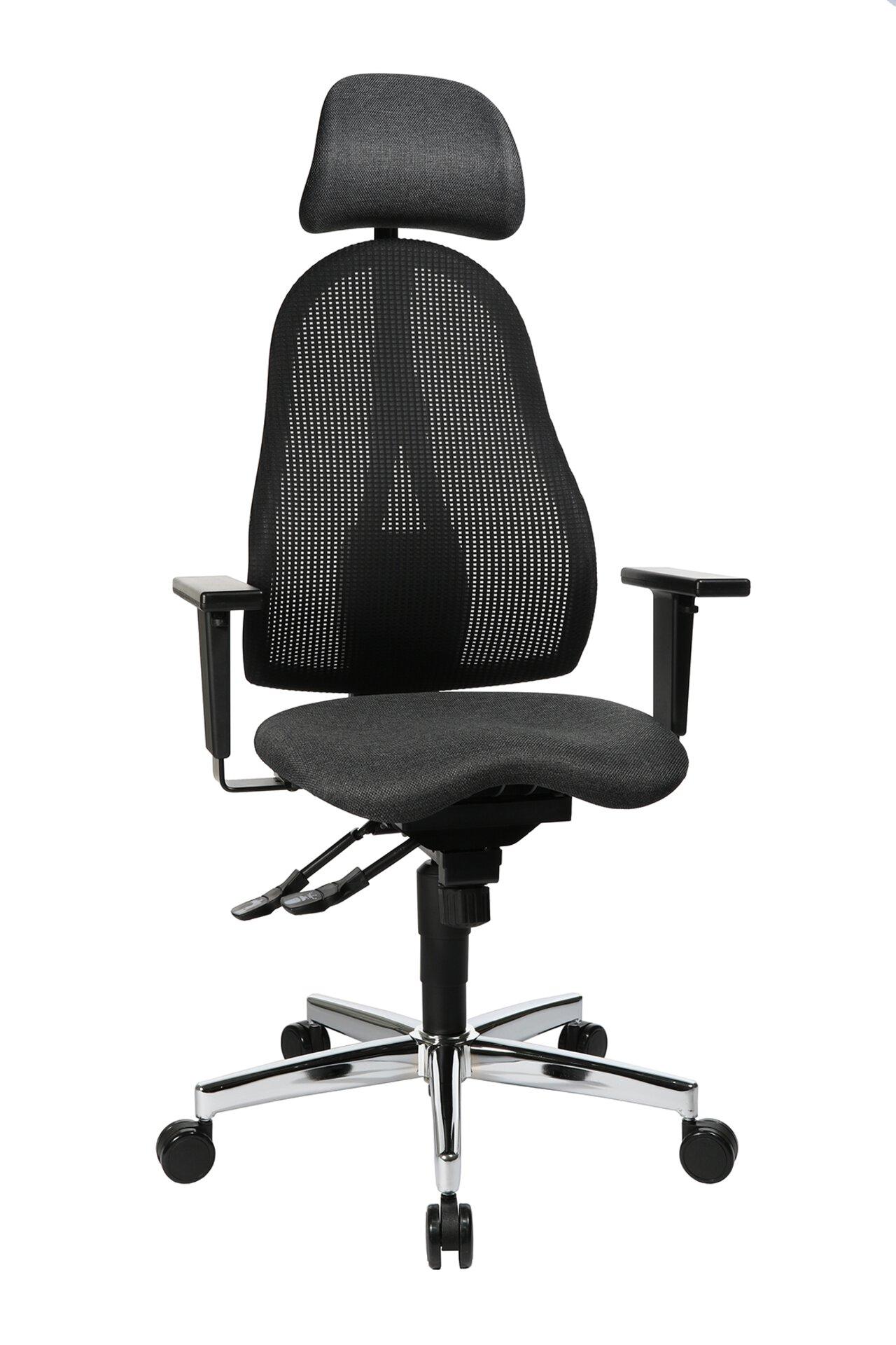 Büro-Drehstuhl SITNESS PROFI 650 Topstar Textil schwarz 54 x 140 x 58 cm