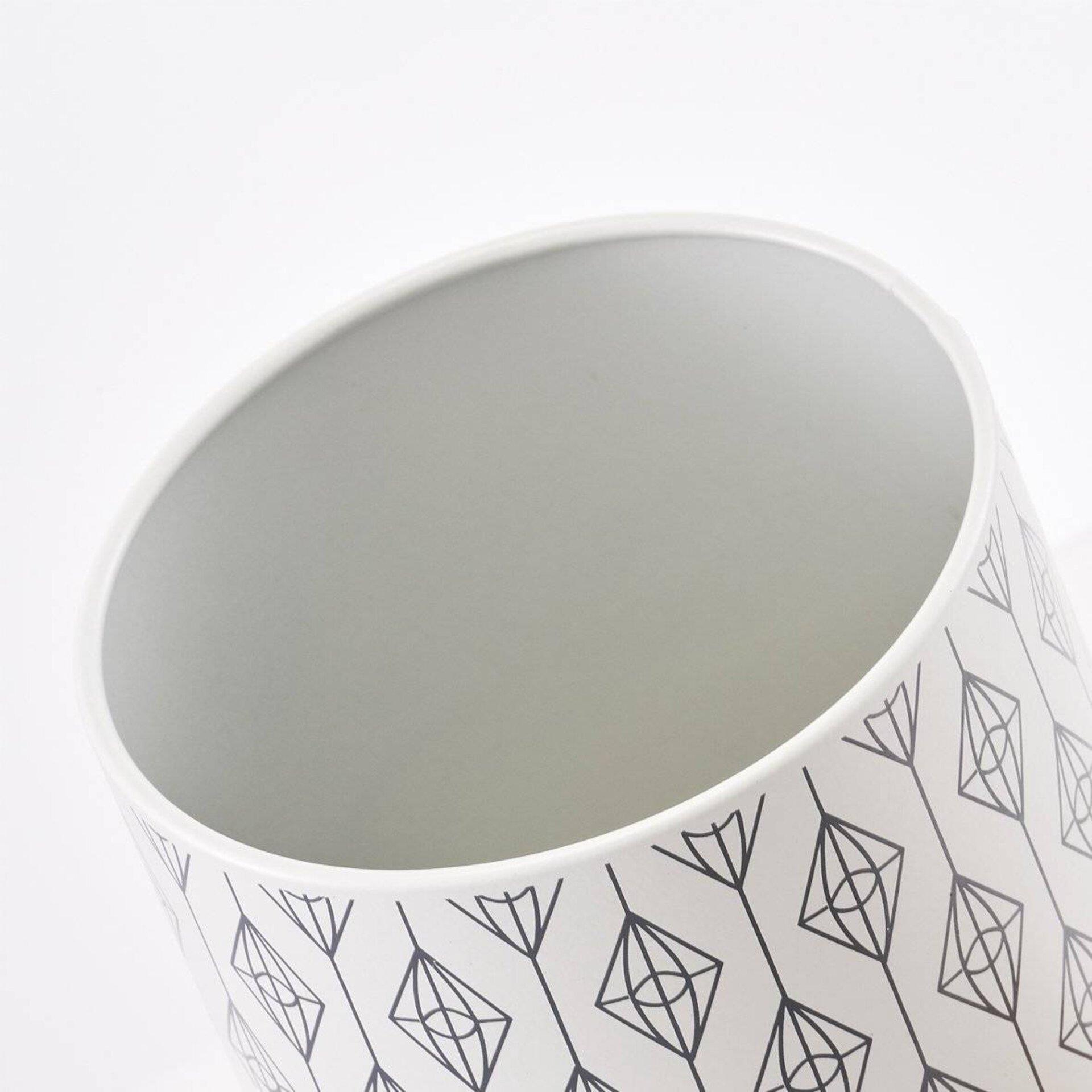 Aufbewahrung Bamboo Zeller Present Metall grau 10 x 16 x