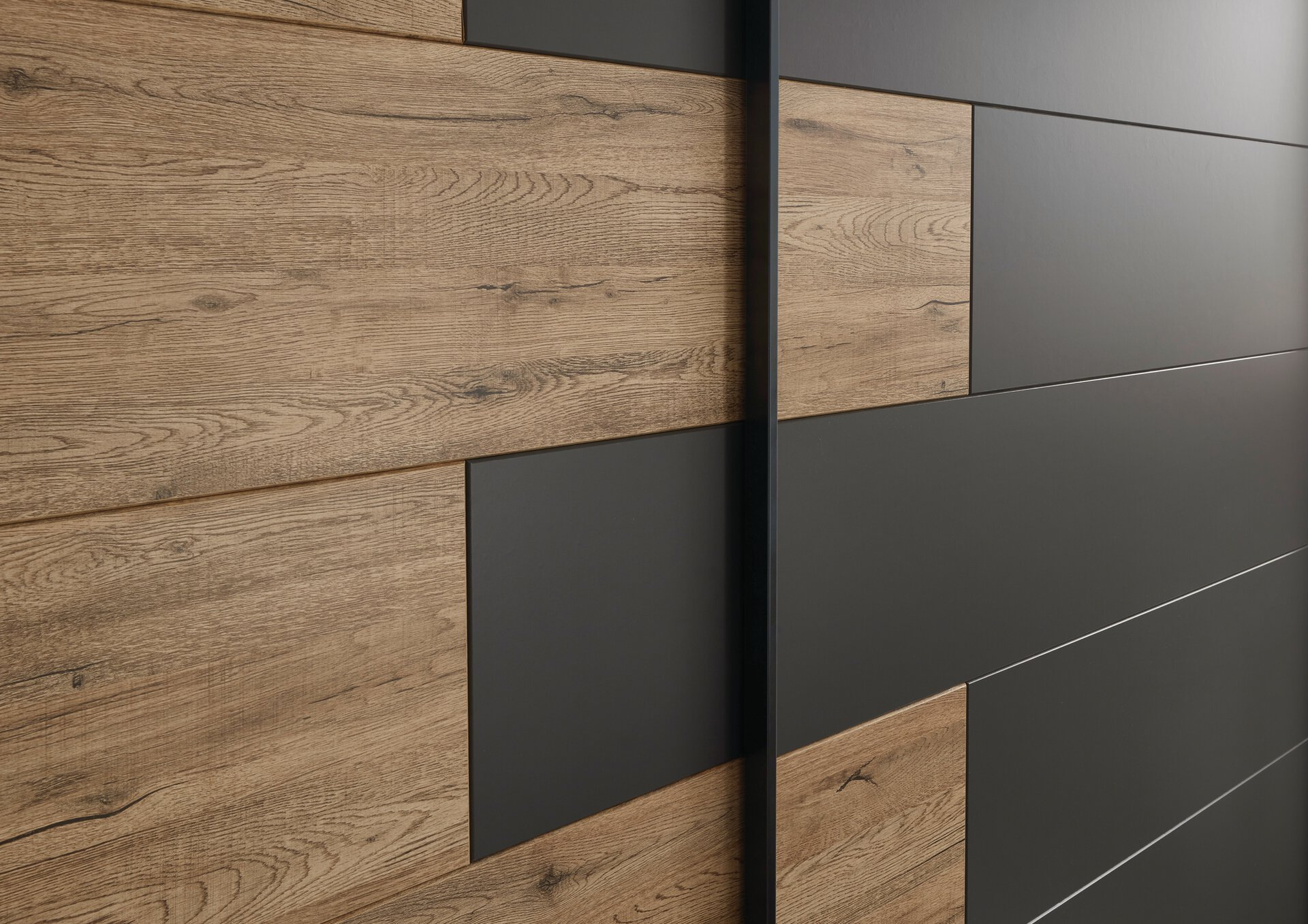 Schwebetürenschrank Linea Dreamoro Holzwerkstoff braun 58 x 211 x 270 cm