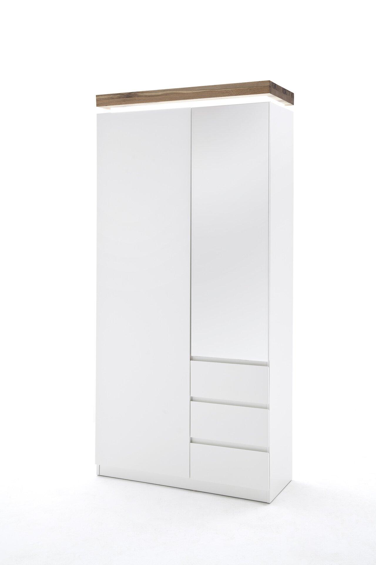 Garderobenschrank ROMINA MCA furniture Holzwerkstoff weiß 38 x 198 x 91 cm
