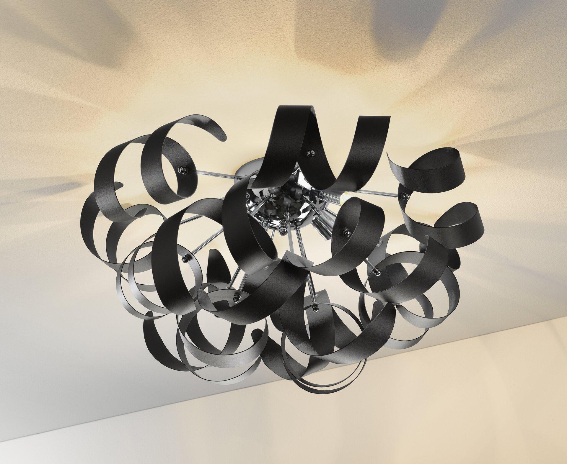 Deckenleuchte Curly III MONDO Metall 60 x 30 x 60 cm