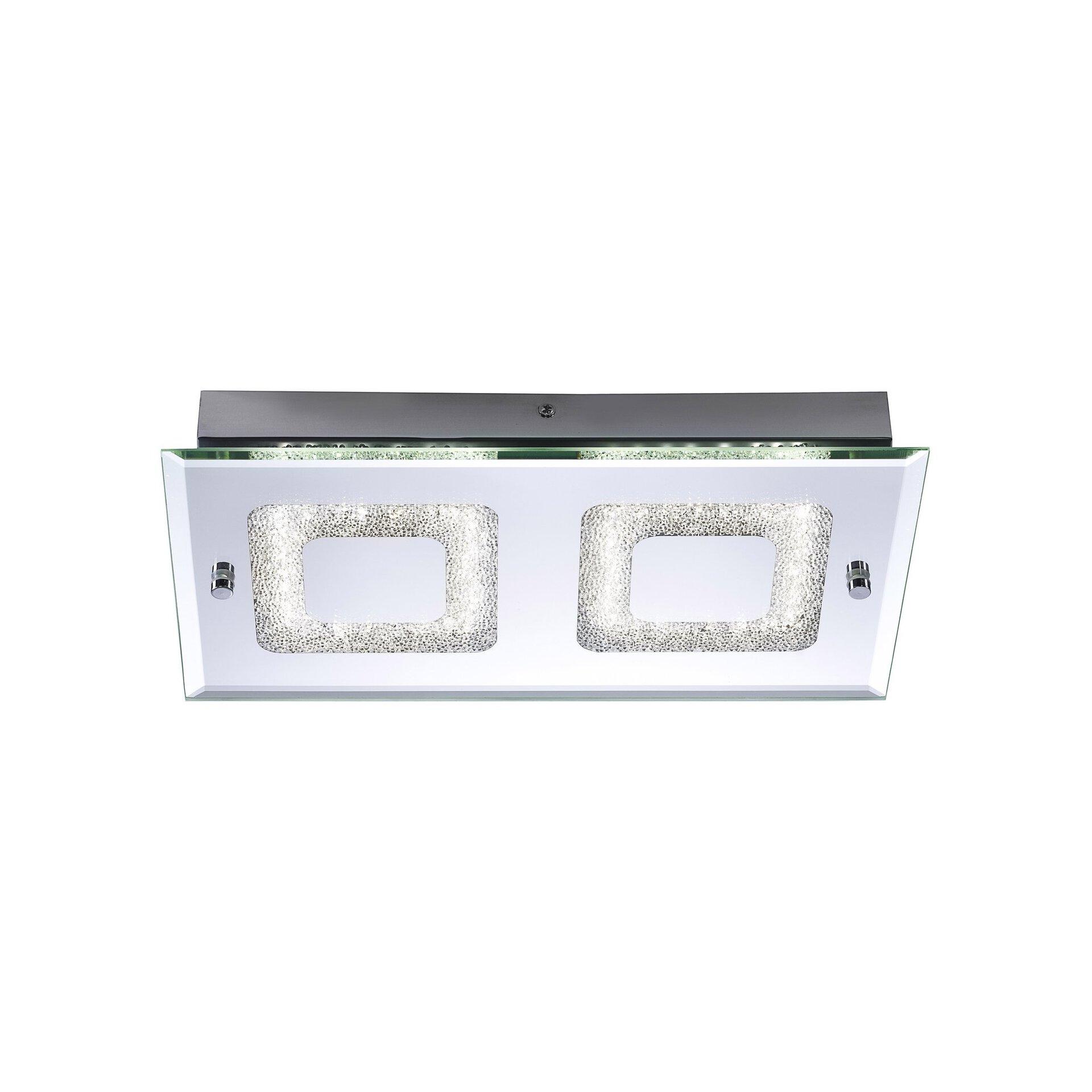 Deckenleuchte LISA Leuchtendirekt Metall silber 20 x 6 x 36 cm