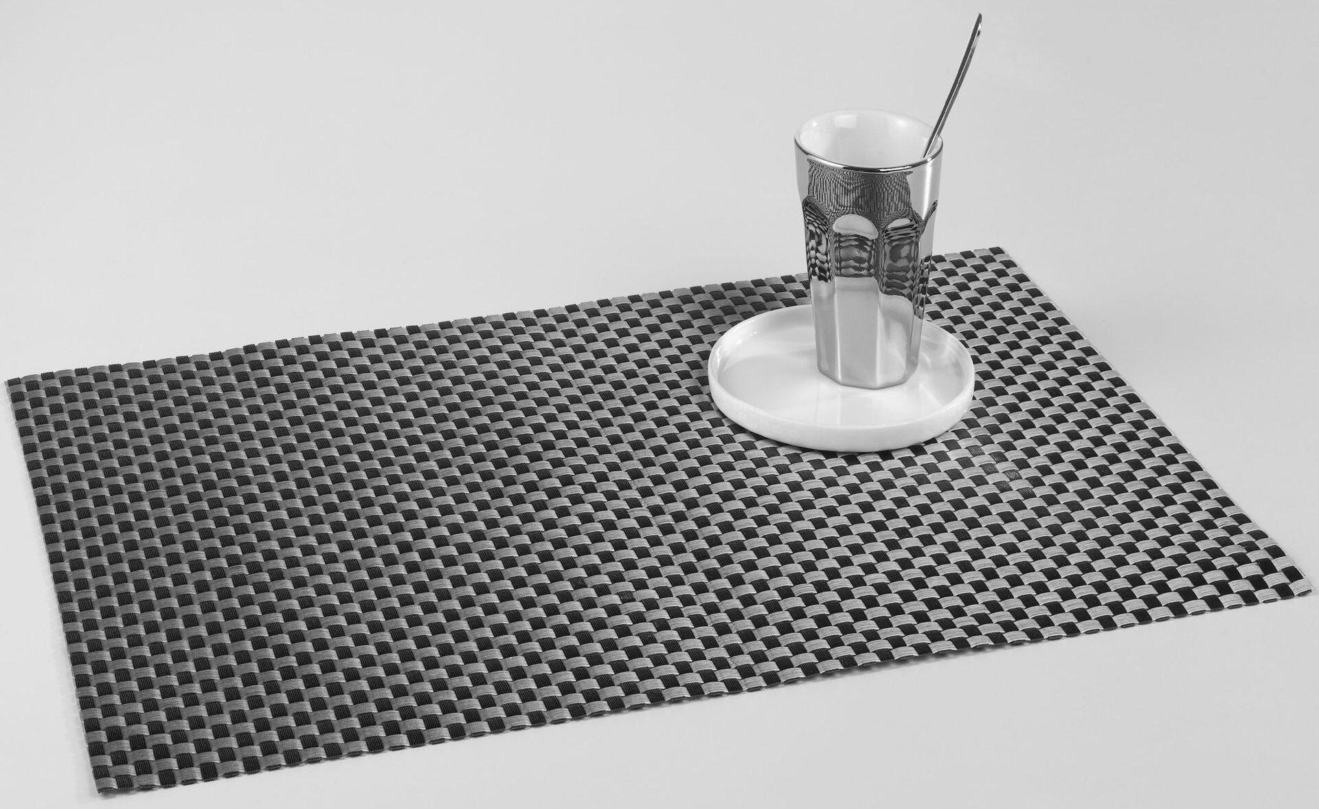 Tischset Casa Nova Kunststoff schwarz 45 x 30 cm