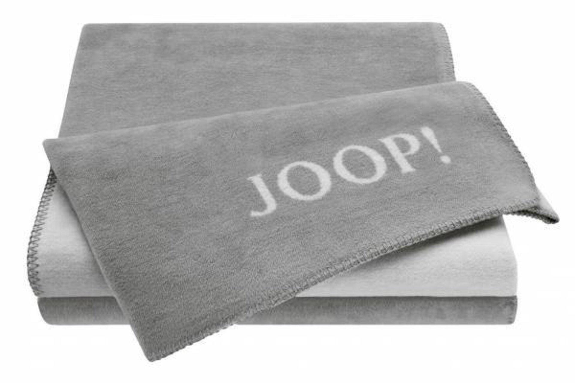 Wohndecke UNI-DOUBLEFACE Joop! Textil grau 150 x 200 cm