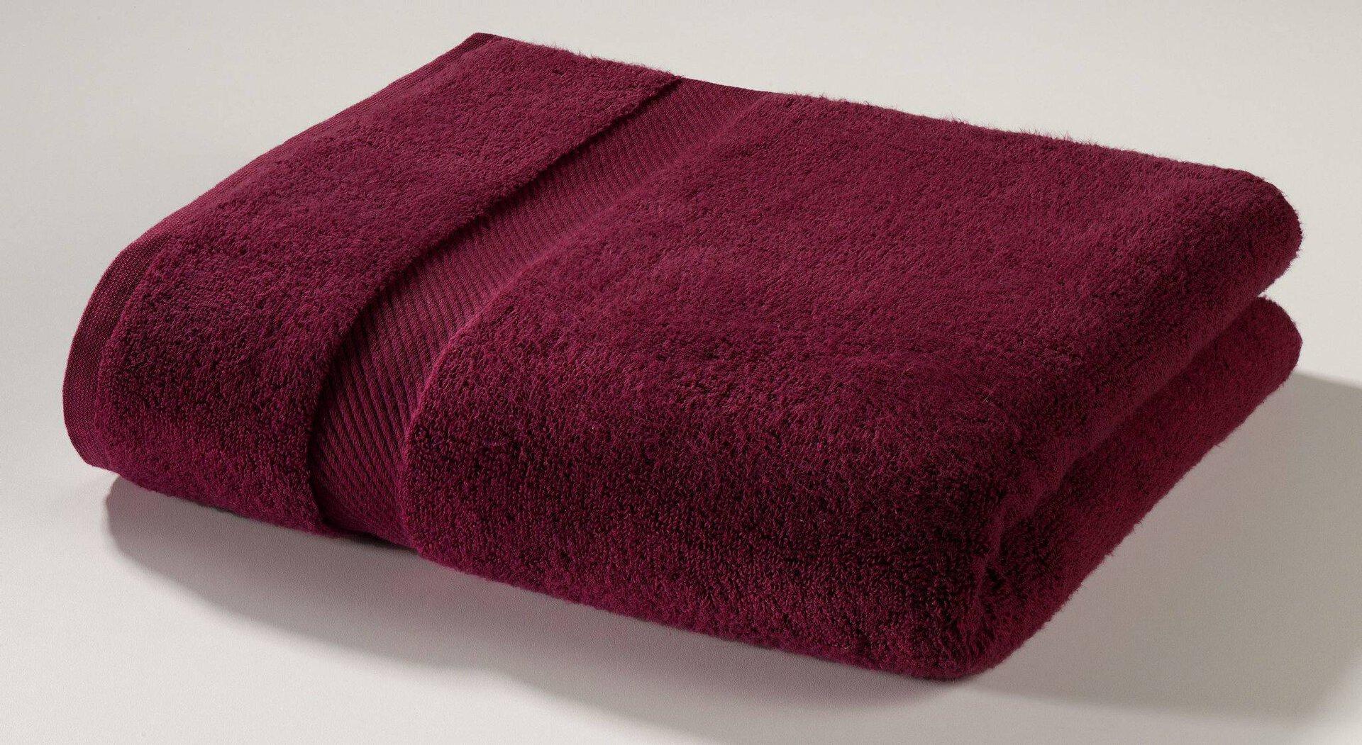 Duschtuch Micro Baumwolle Casa Nova Textil rot 70 x 140 cm