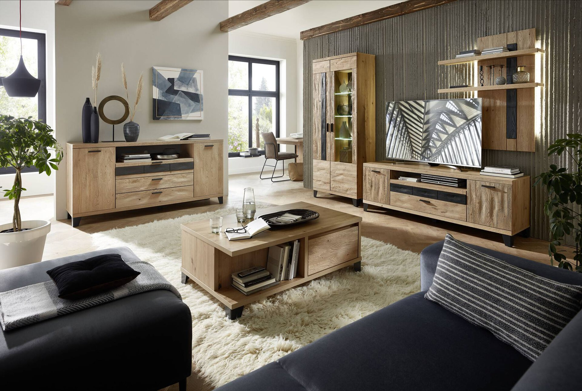 Wohnwand SLUSH Vito Holzwerkstoff 45 x 203 x 304 cm