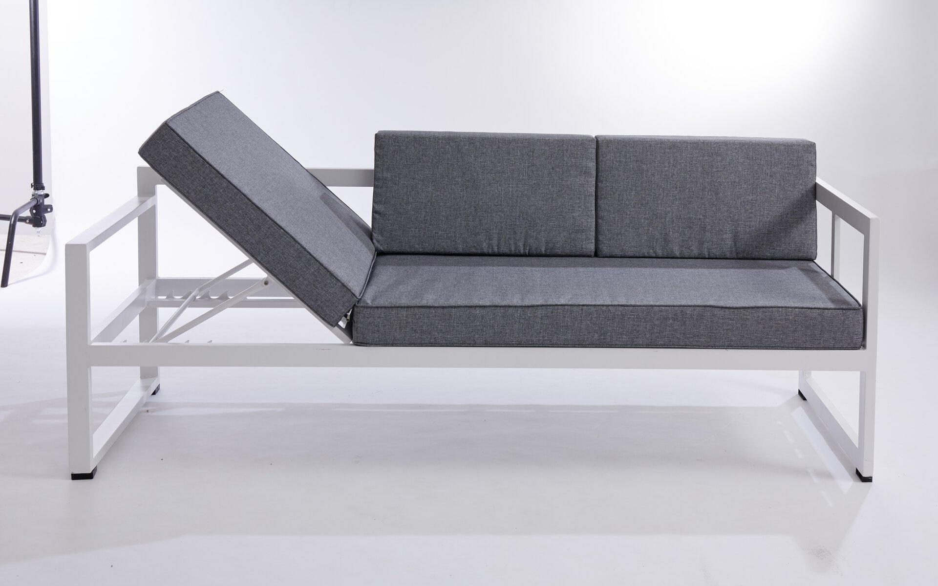 Lounge-Set DAPHNE Outdoor Textil grau 66 x 70 x 210 cm