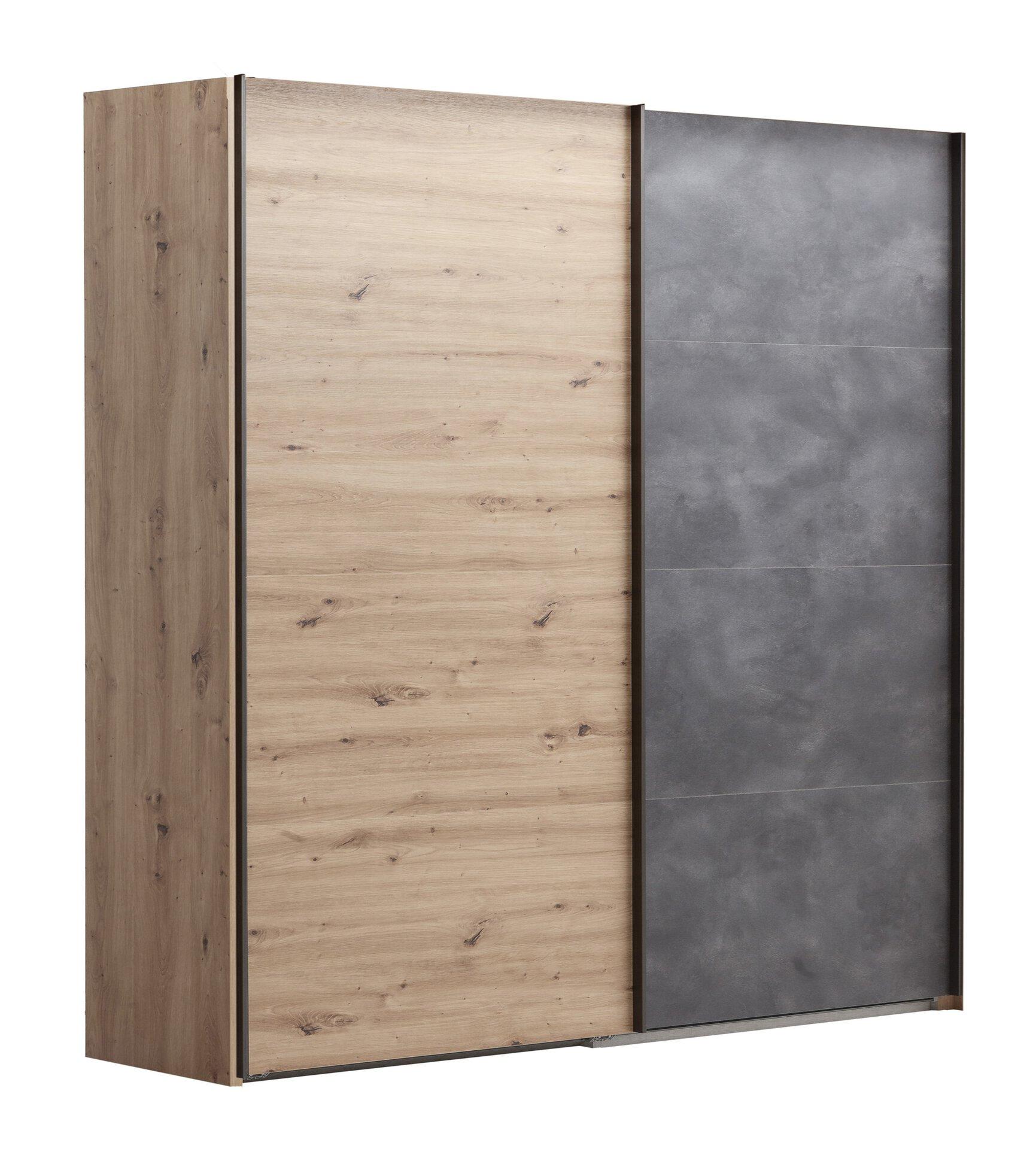 Schwebetürenschrank LAFABRICA Dreamoro Holzwerkstoff braun 61 x 220 x 250 cm