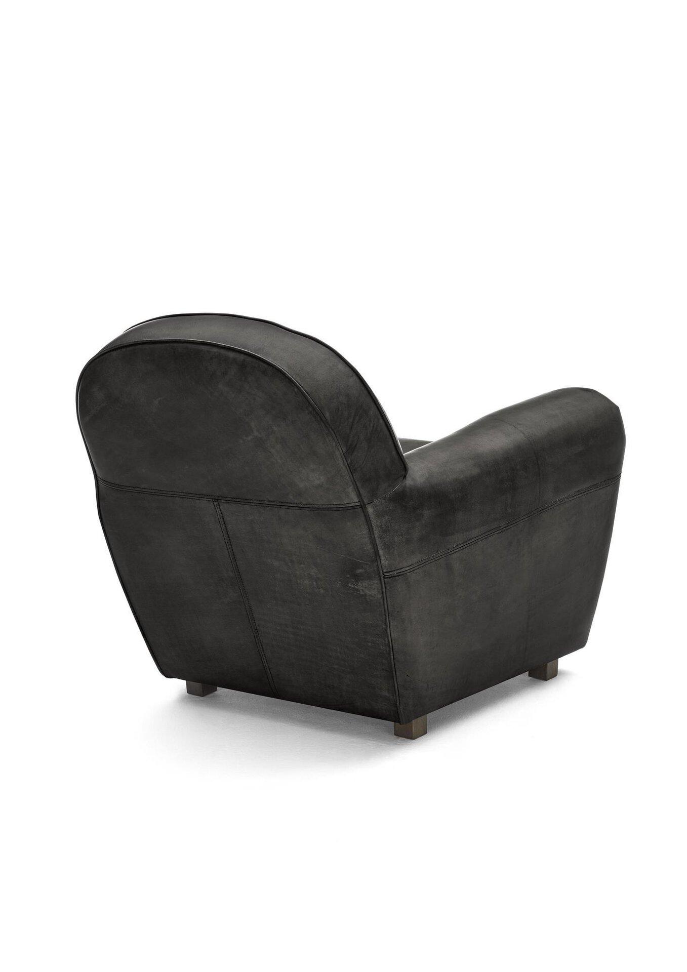 Einzelsessel WK5003 MARKO WK Wohnen Edition Leder schwarz