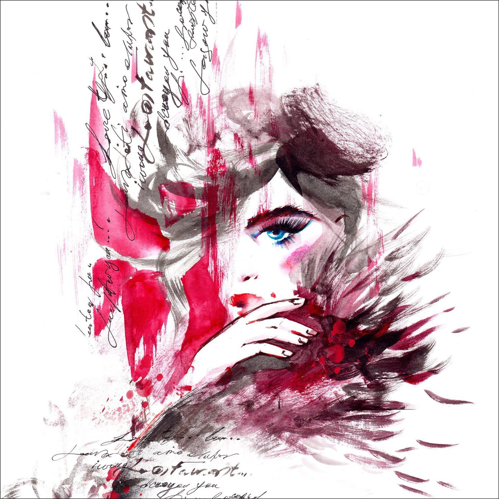 Bild Red Woman Pro-Art Holzwerkstoff 30 x 30 x